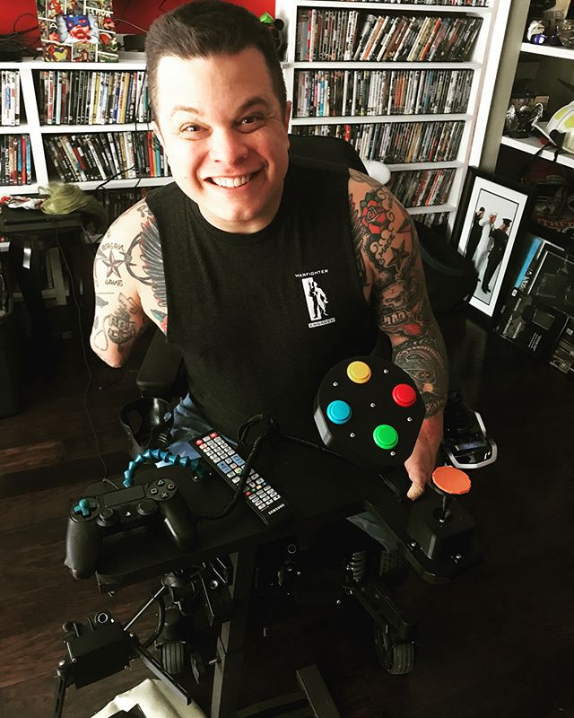 Meet Ret. Cpl Tyler Southern who lost three limbs in Afghanistan in 2010. He LOVES to game and we were so grateful to help him be able to do so :) Please help support us so we can continue to provide adapted gaming controllers and systems to our severely wounded veterans free of charge!! https://www.warfighterengaged.net/donate/  or follow us on Twitter: @WFEngaged and Facebook! Every little bit counts when it comes to helping those who have sacrificed so much to regain the ability to do what they love!! #gamingforeveryone #woundedwarriors #adaptivegaming #videogames #xbox #accessiblegaming #accessibletechnology