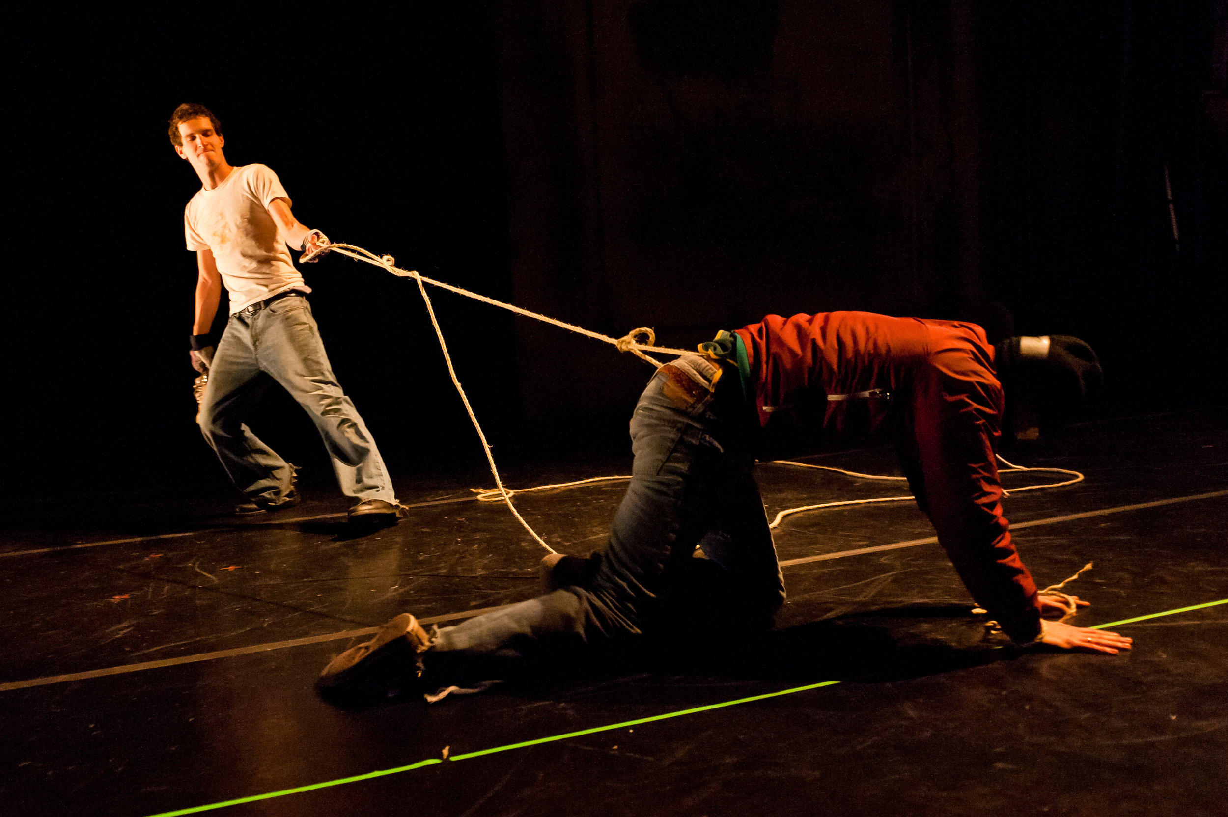 Knife / Tape / Rope  with Jeremy Pheifer and Robert Maynard, American Realness, 2012   Photo: Ian Douglas