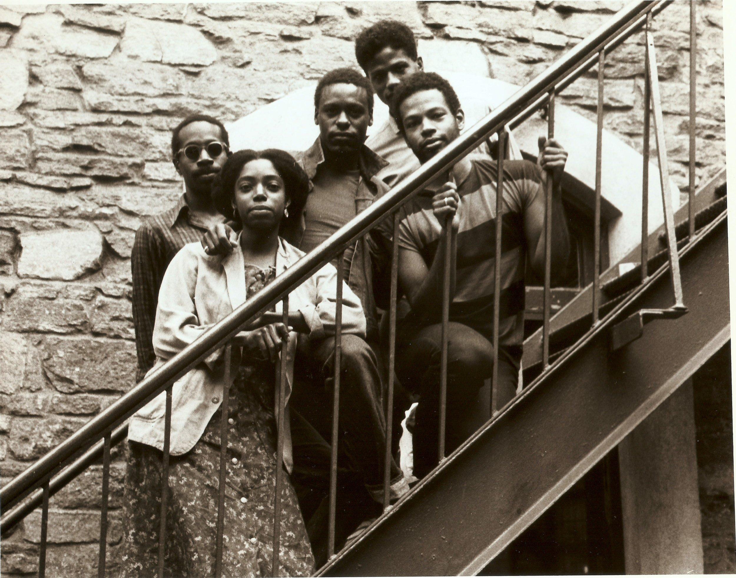 Parallels  1982, Danspace Project   Photo of Ishmael Houston-Jones, Harry Whittaker Sheppard, Christine Jones, Fred Holland, Ralph Lemon, 1982    photographer unknown