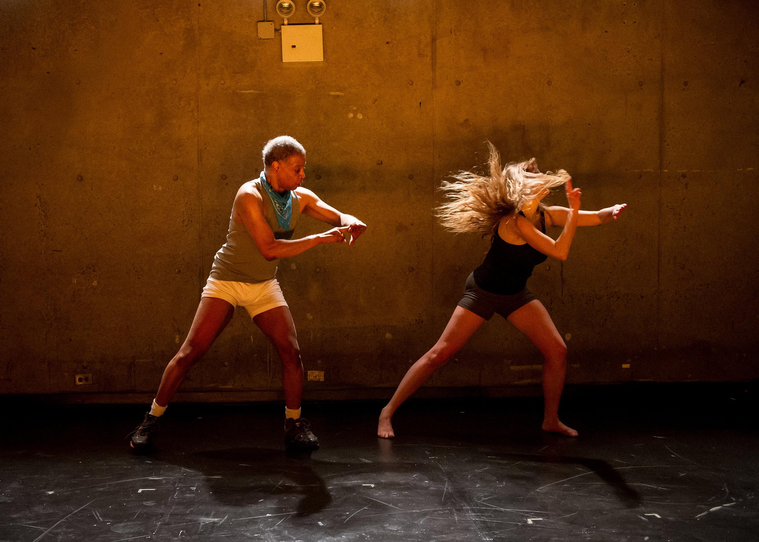 13 Loves Songs: dot dot dot,  AMERICAN REALNESS festival, Ishmael Houston-Jones and Emily Wexler, 2014   Photo: Ian Douglas