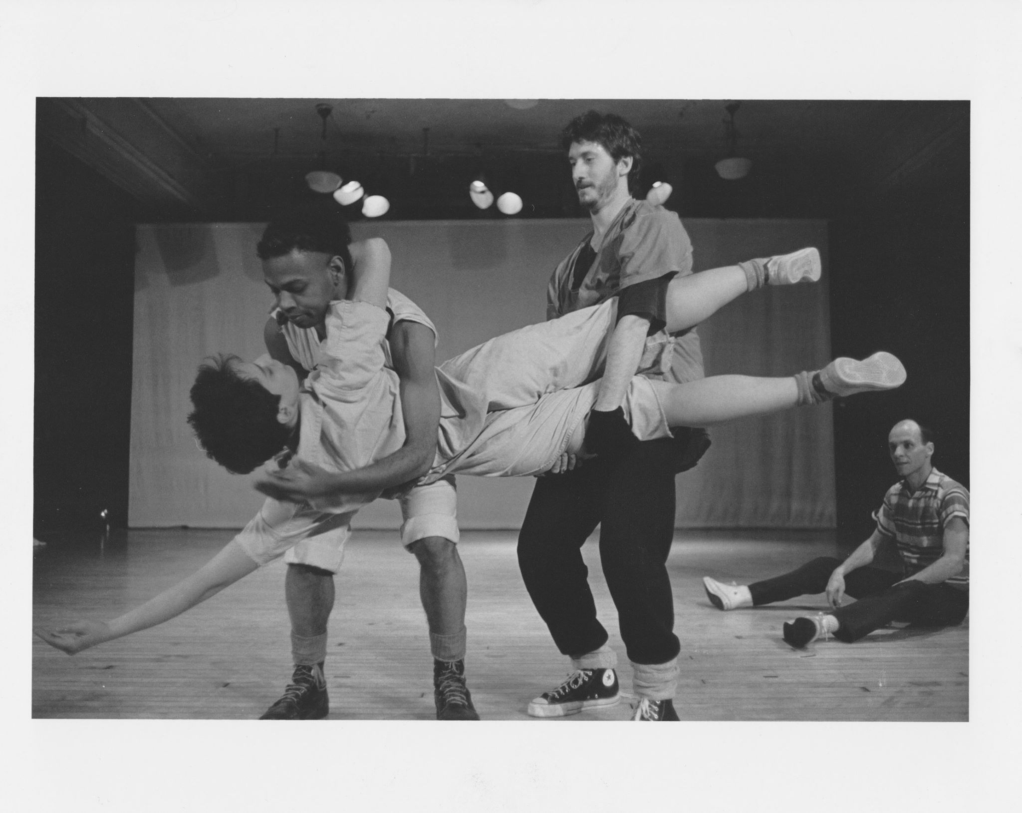 Screws Loose: they won't shut up . 1980s improv group at PS 122. With IH-J, Susan Seizer, Mark Russell, and Charles Dennis.   Photo: Dona Ann McAdams