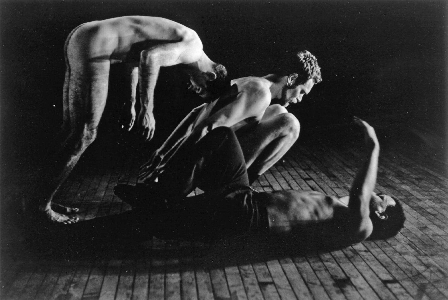 Unsafe/Unsuited,  a collaboration with Keith Hennessy and Patrick Scully, PS 122, 1995   Photo: Dona Ann McAdams