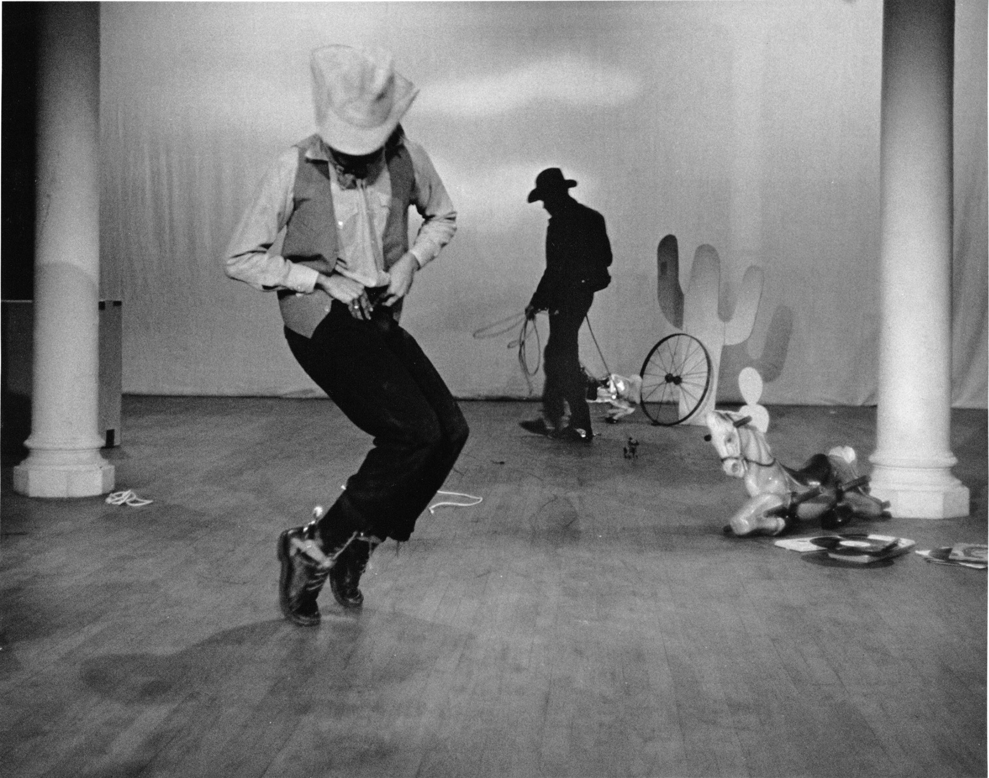 Cowboys, Dreams, and Ladders ,     Fred Holland and Ishmael Houston-Jones, The Kitchen, 1984   Photo: Dona Ann McAdams