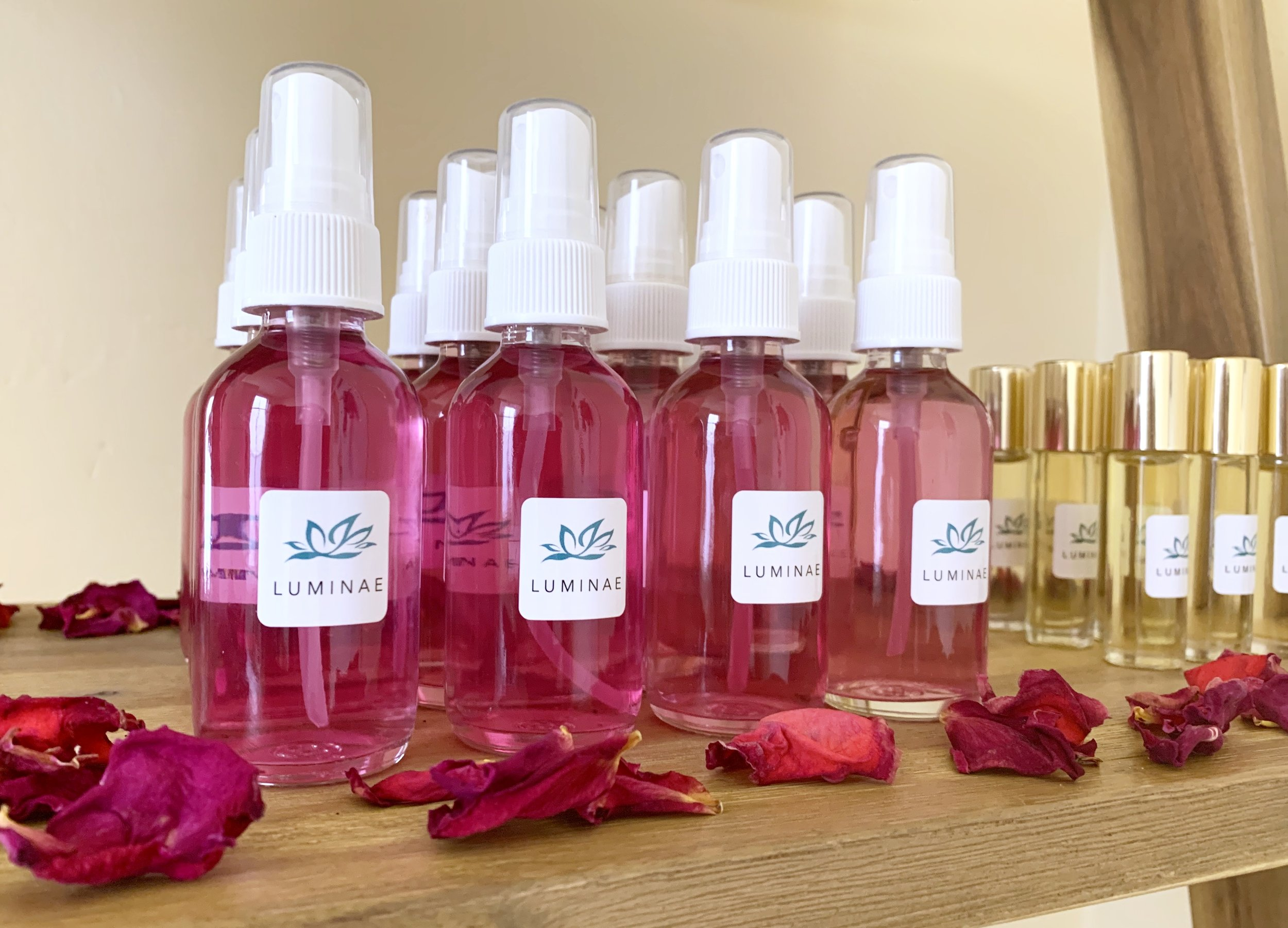 Garden Rosewater - Luminae Garden Rosewater offers the high vibrational energy of the rose flower. Rosewater is perfect for a refreshing mist for nourishing the skin and opening the heart. This energy medicine and natural beauty product is available seasonally when the garden roses are in bloom.