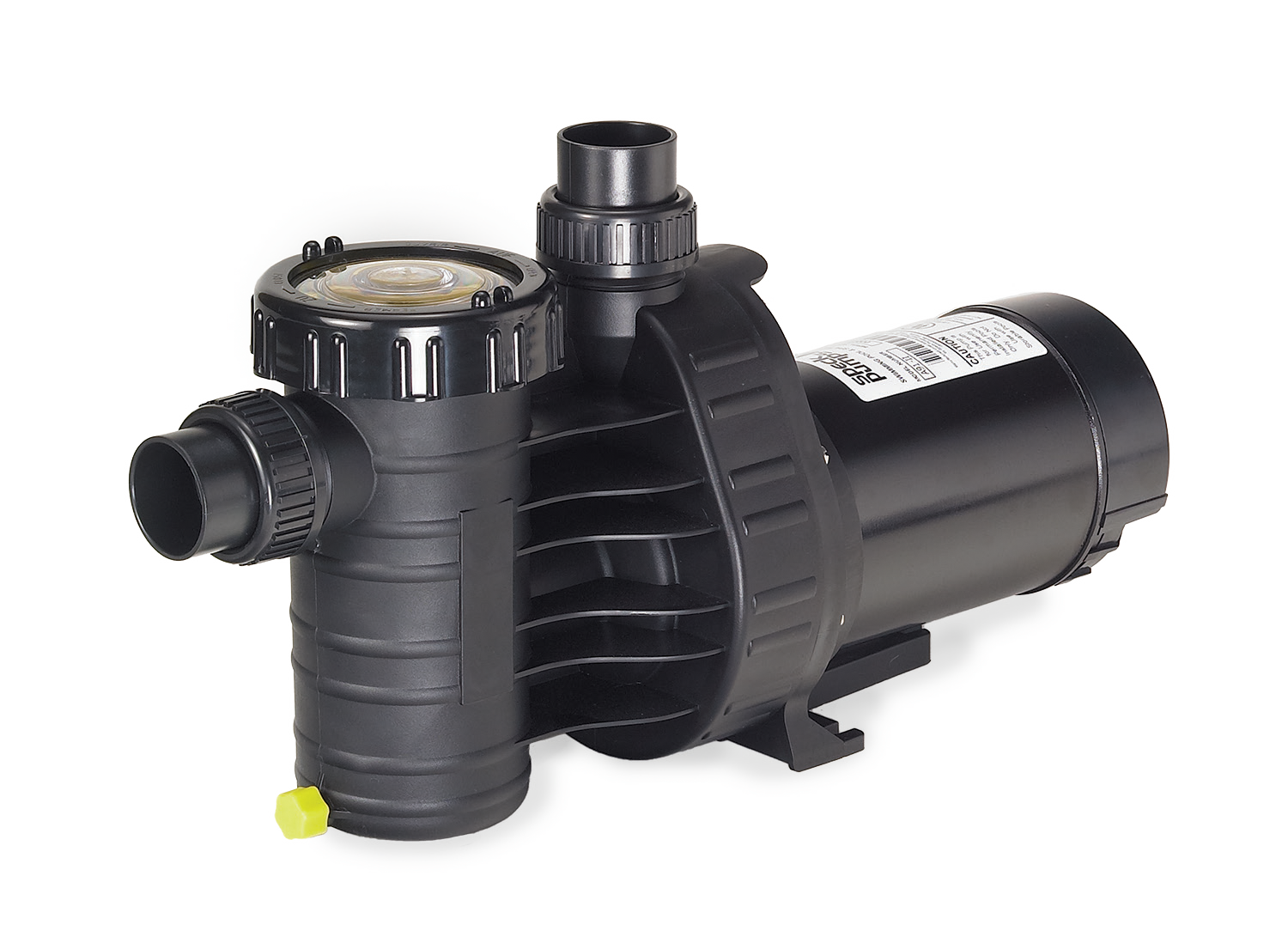 Speck®A91 - The Speck Model A91 above-ground and small in-ground pool pump incorporates many upgraded features expected only from larger in-ground pumps. The pump is self-priming, extremely quiet, and has an easy on-off, clear two-piece lid. Quick disconnect unions are provided for simple installation and maintenance.