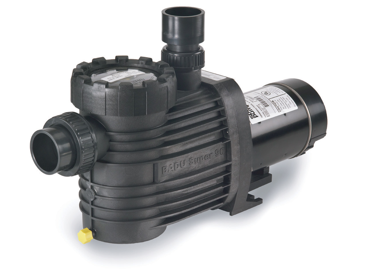 Speck®ES90 - The Speck Model ES90 medium head pump has been engineered for durability and quiet performance. This all-plastic, self-priming pump with a large basket is ideally suited for small to medium in-ground pools.