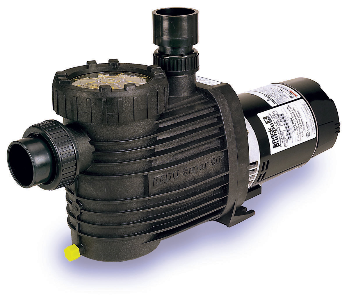 Speck®S90 - The Speck Model S90 medium head pump has been engineered for durability and quiet performance. All models are equipped with 2″ suction and 1.5″/2″ discharge, ensuring optimum efficiency. Speck's high quality continues in the Model S90 with positive advances to benefit the consumer and the environment.