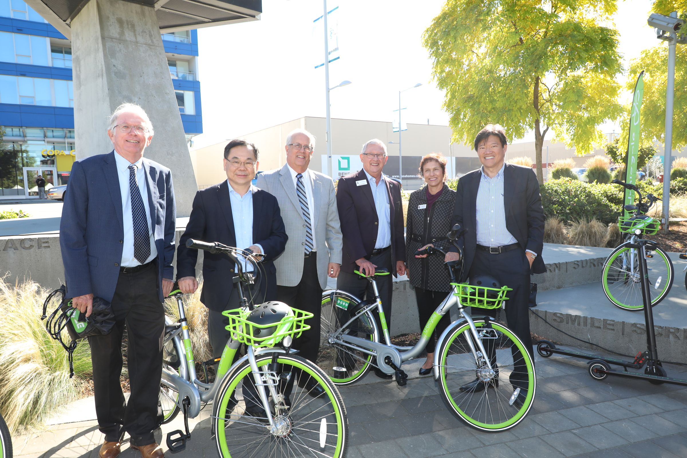 Richmond mayor, MLA, and MP's trying our bikes