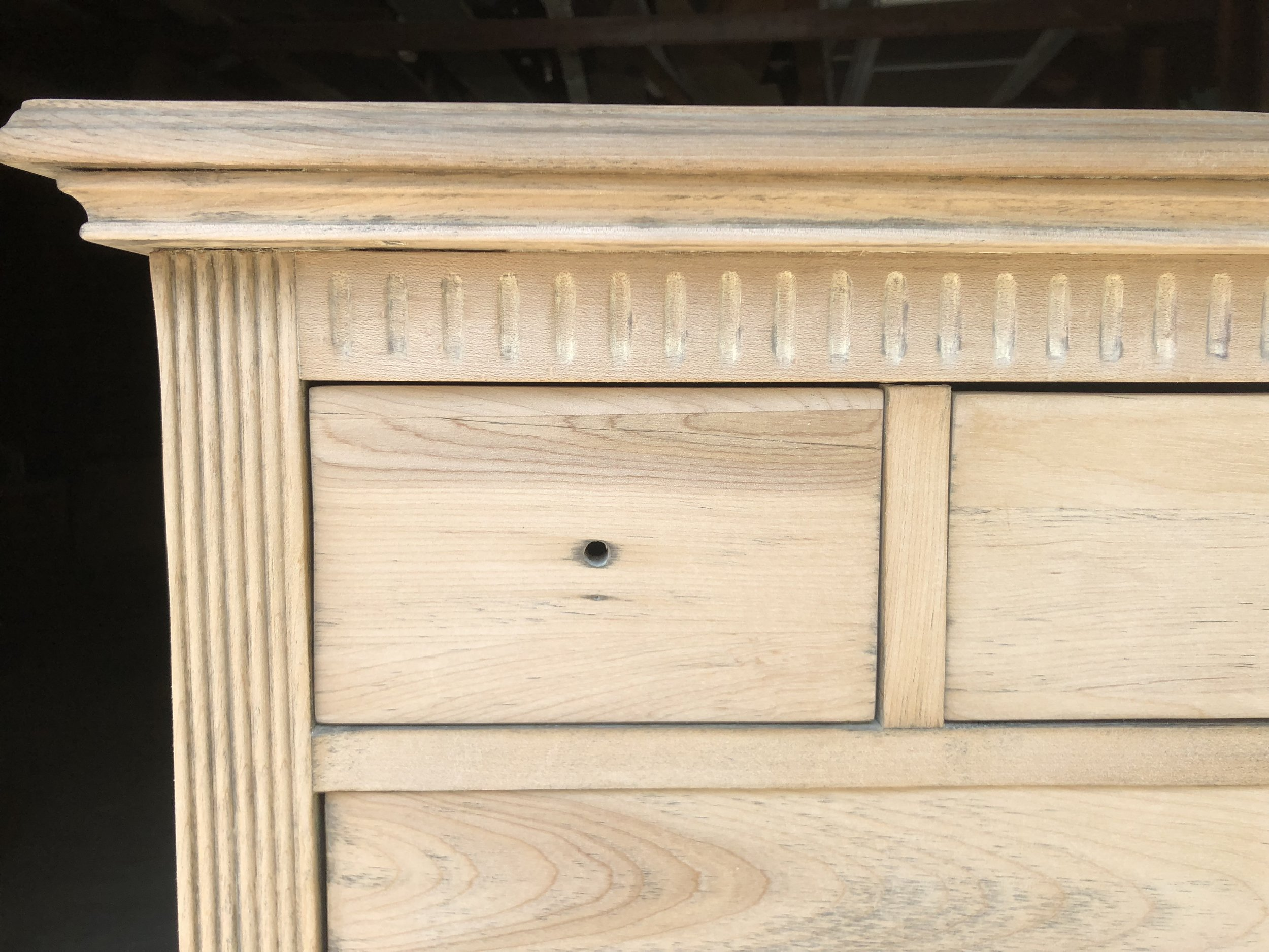 A snippet from a previous  dresser restoration project  of mine - now restored for another 100 years of use and enjoyment.