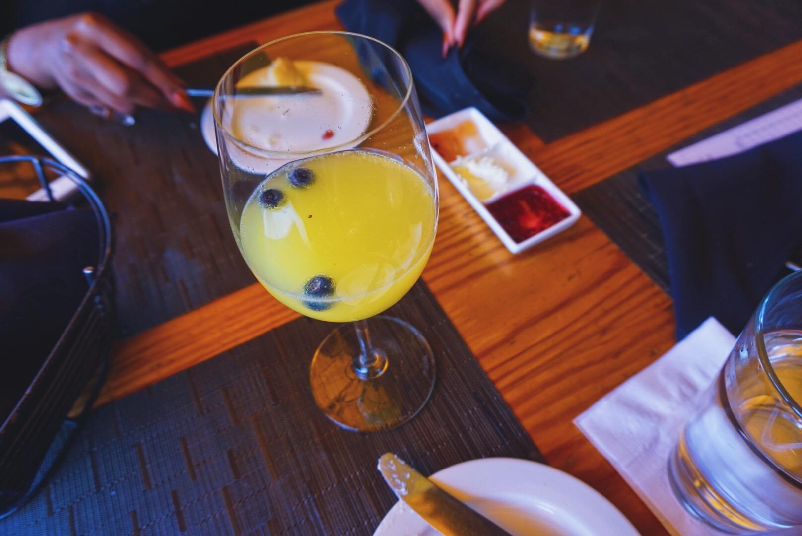 Blueberry Vodka Mimosa from Murphy's in Midtown Atlanta
