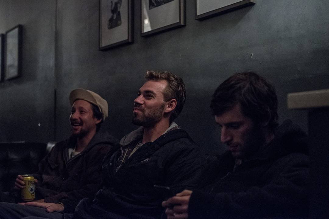Sage, Dylan, and Nathan backstage at The Independent San Francisco