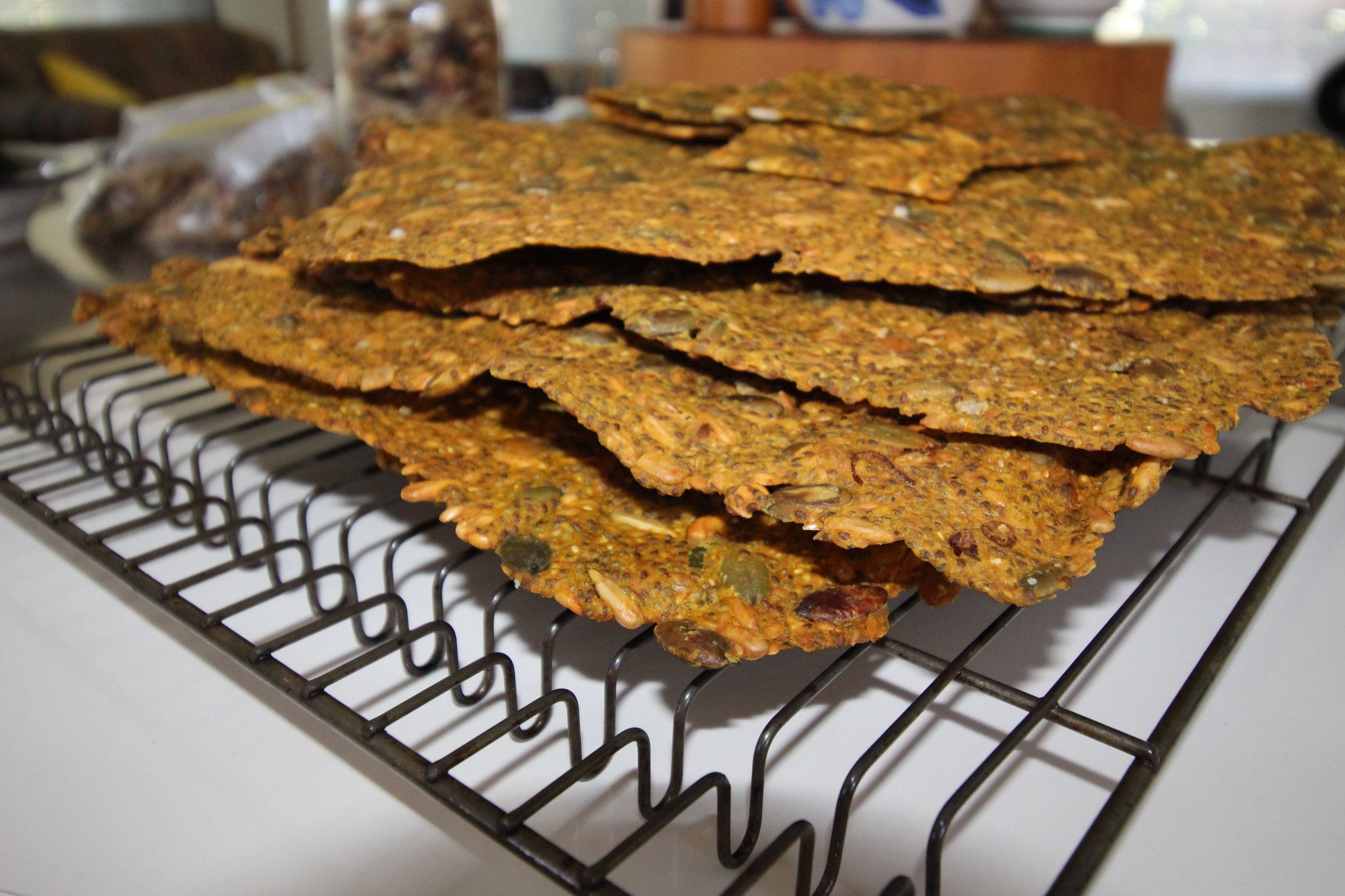 chia seed cracker recipe picture