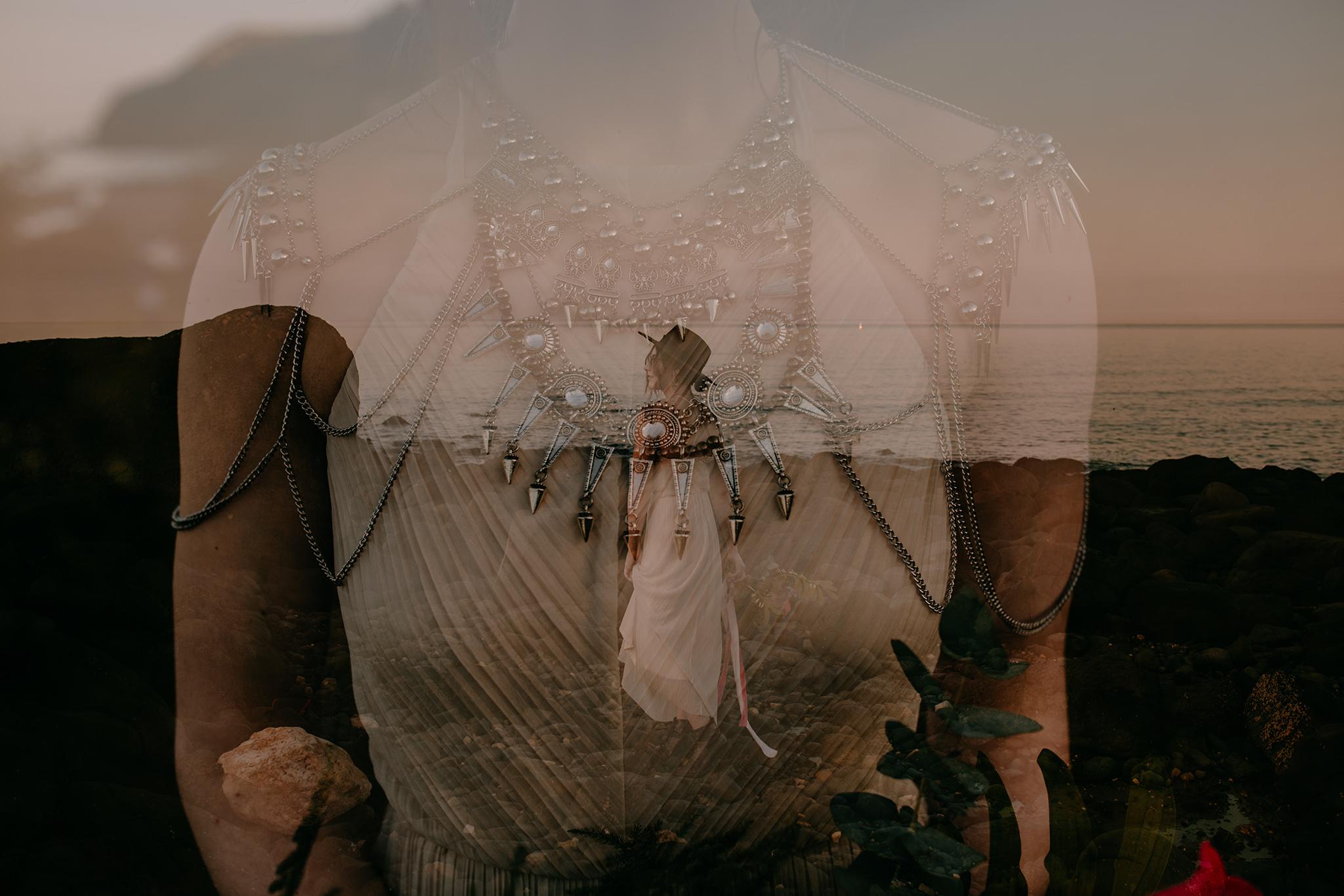 boho-bride-alternative-wedding-double-exposure