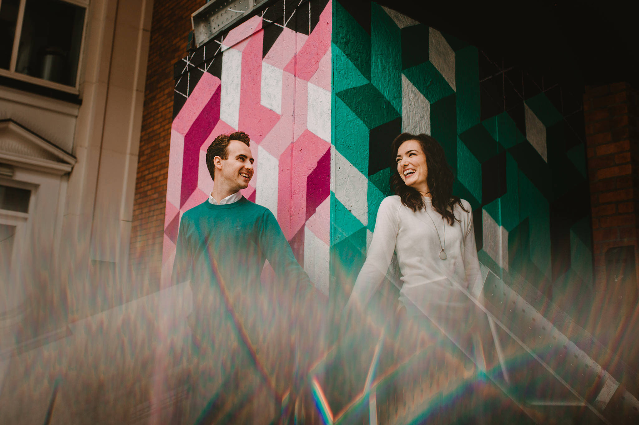 A colourful and creative engagement session at the Mac Belfast