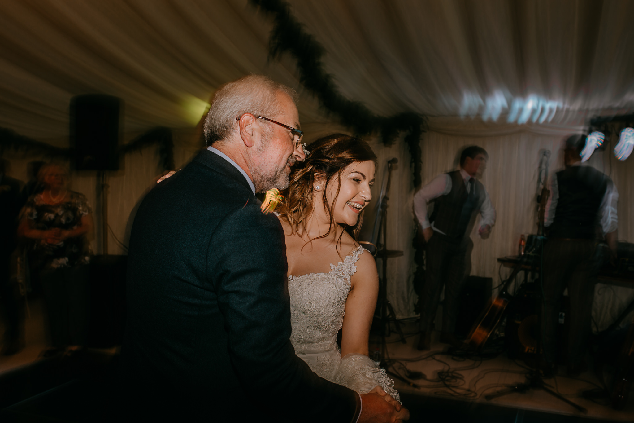 bride and father second dance wedding  day