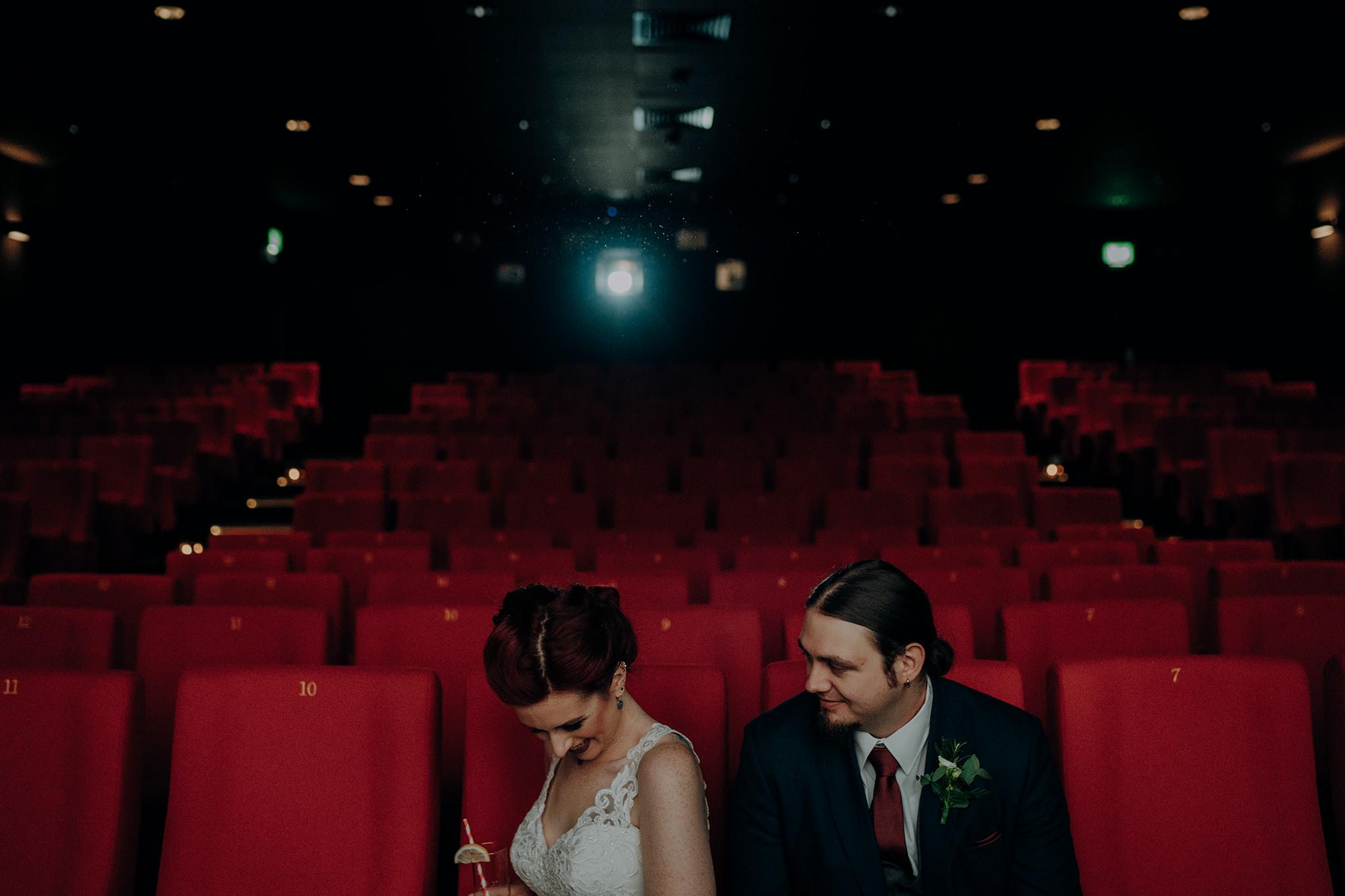 alternative wedding ceremony aft belfast rock n roll couple