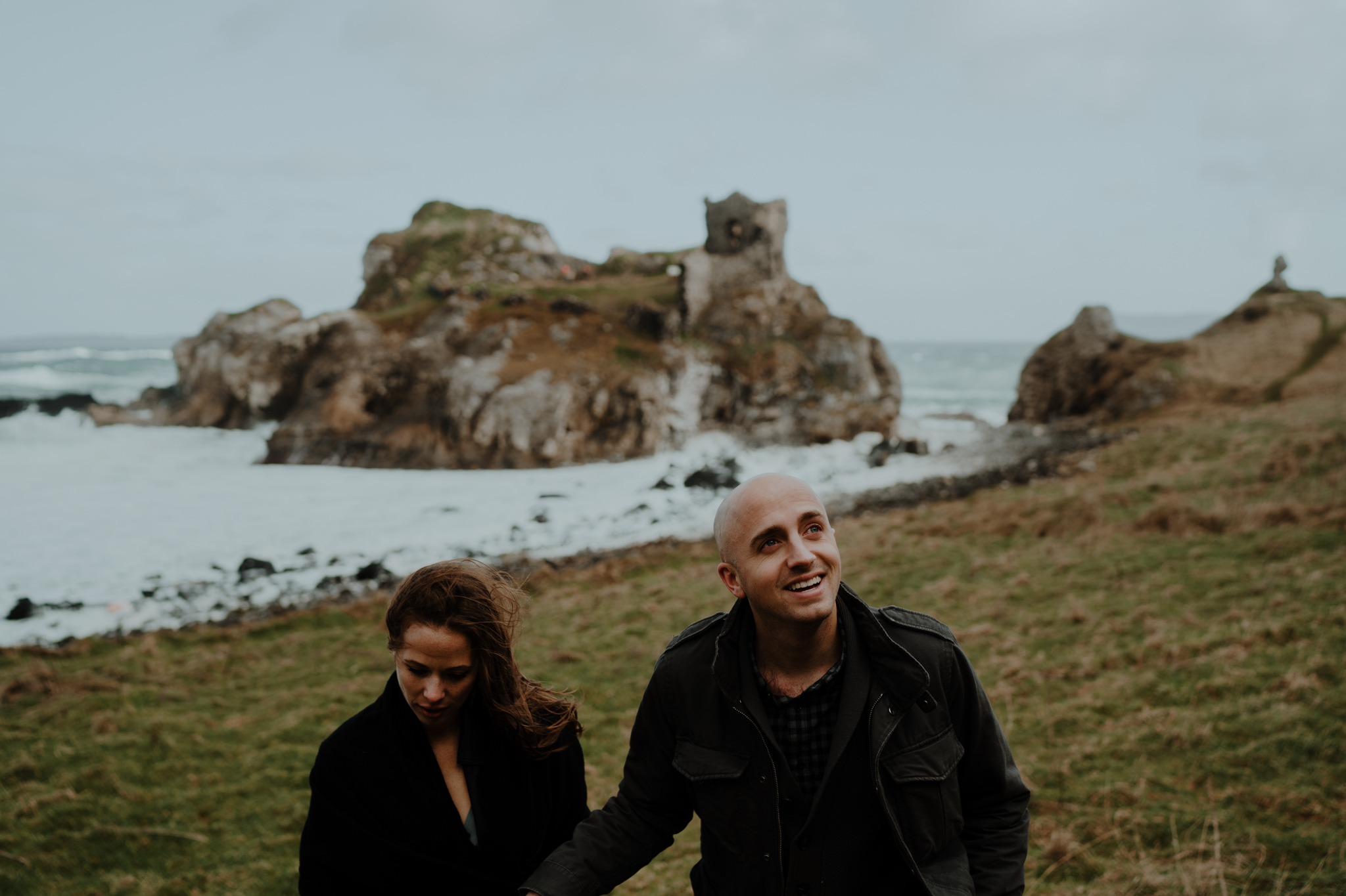 travel adventure kinbane castle rad couple