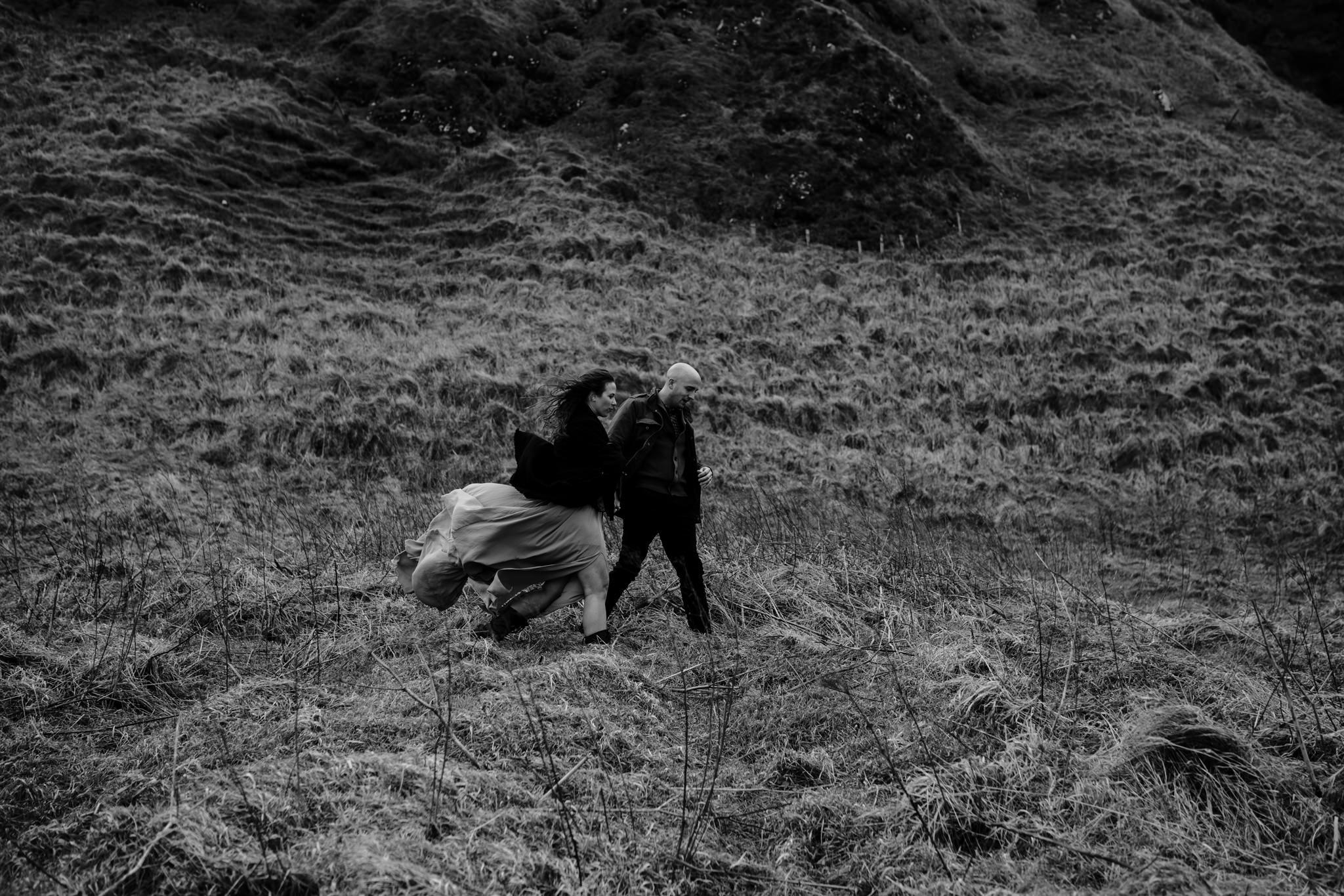 wanderlust adventure travel ireland black and white kinbane castle