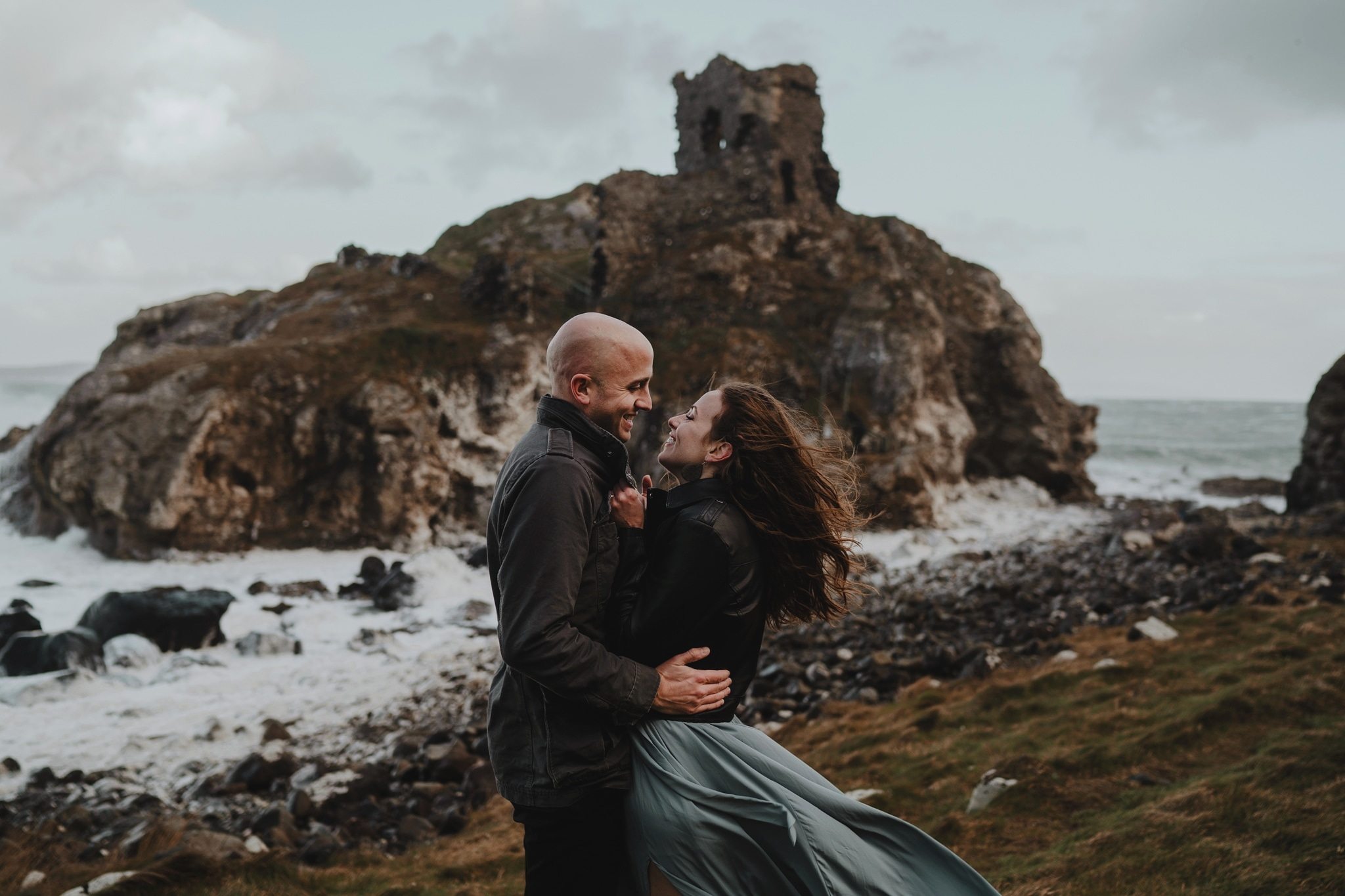 kinbane castle adventure elopement northern ireland photographers