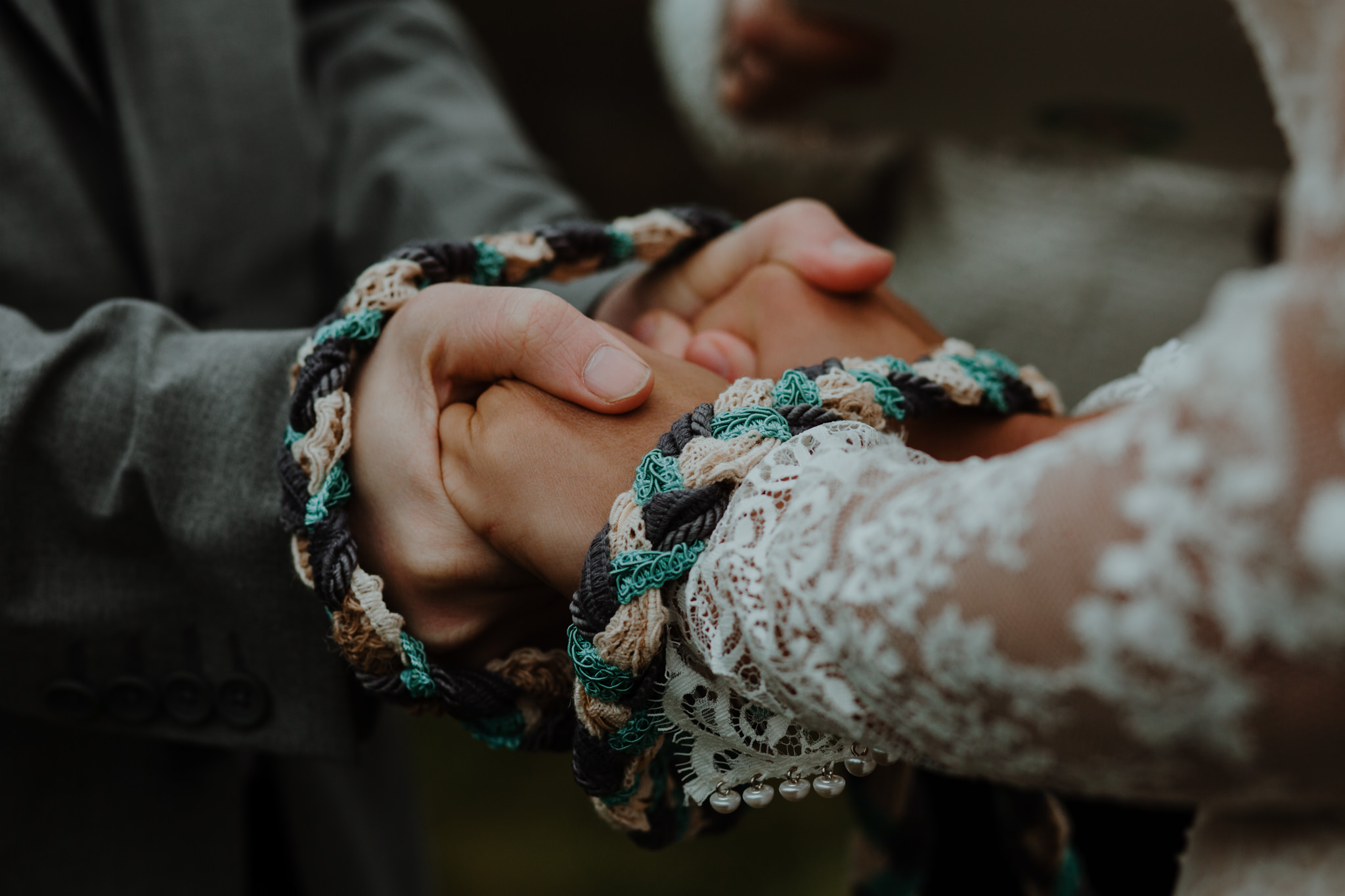 Hand fasting elopement ceremony dunluce castle