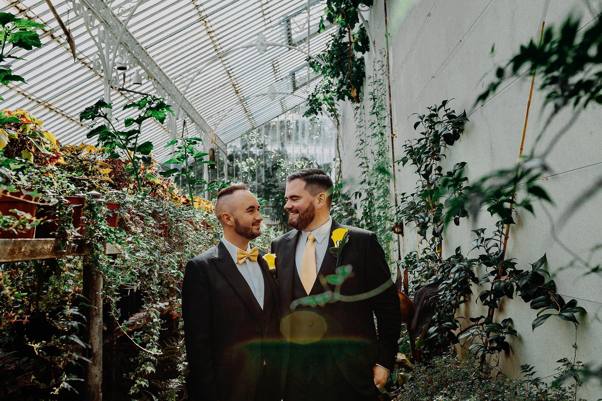 lgbt wedding photographers belfast botanic gardens