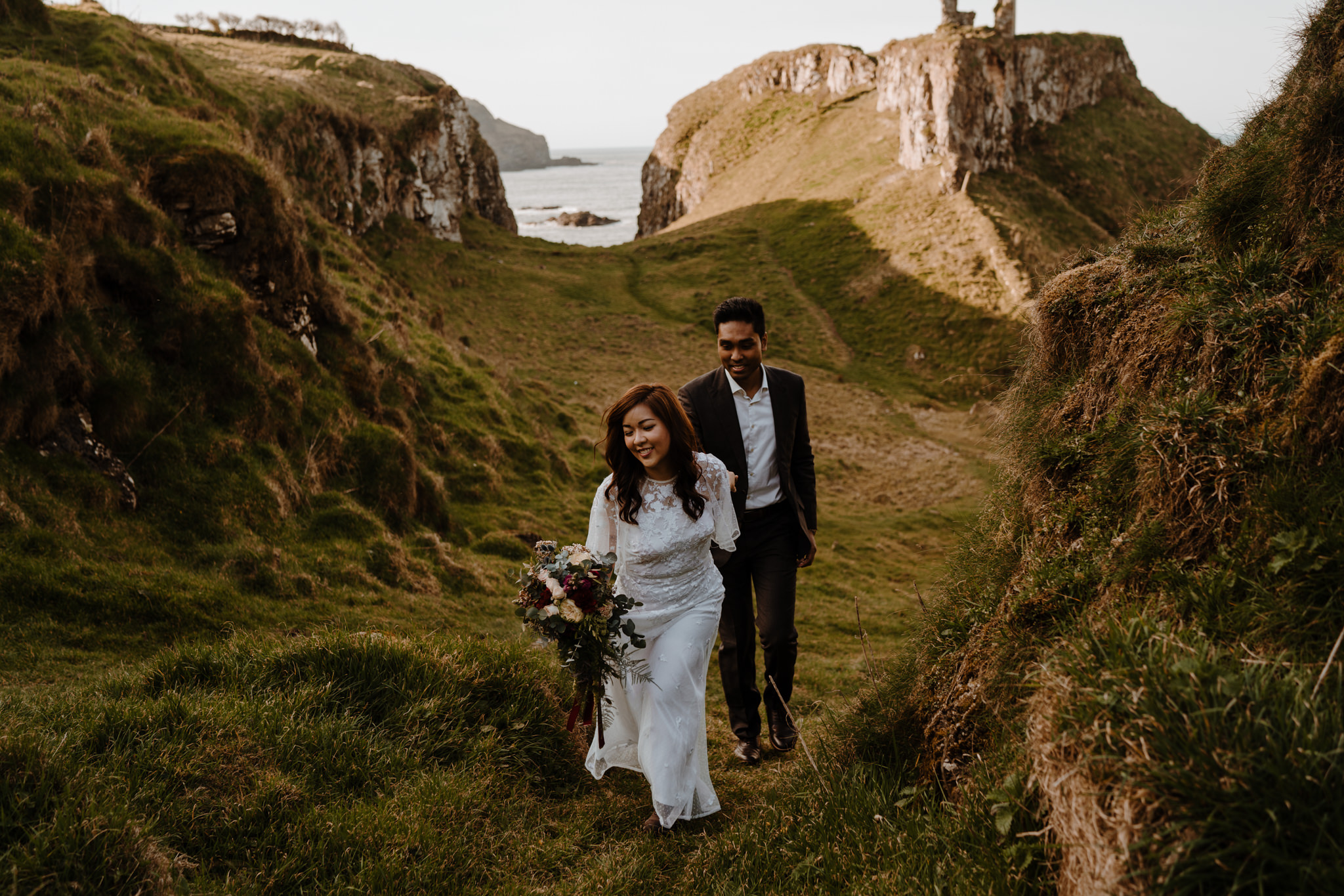 epic locations to elope in Ireland Dunseverick castle