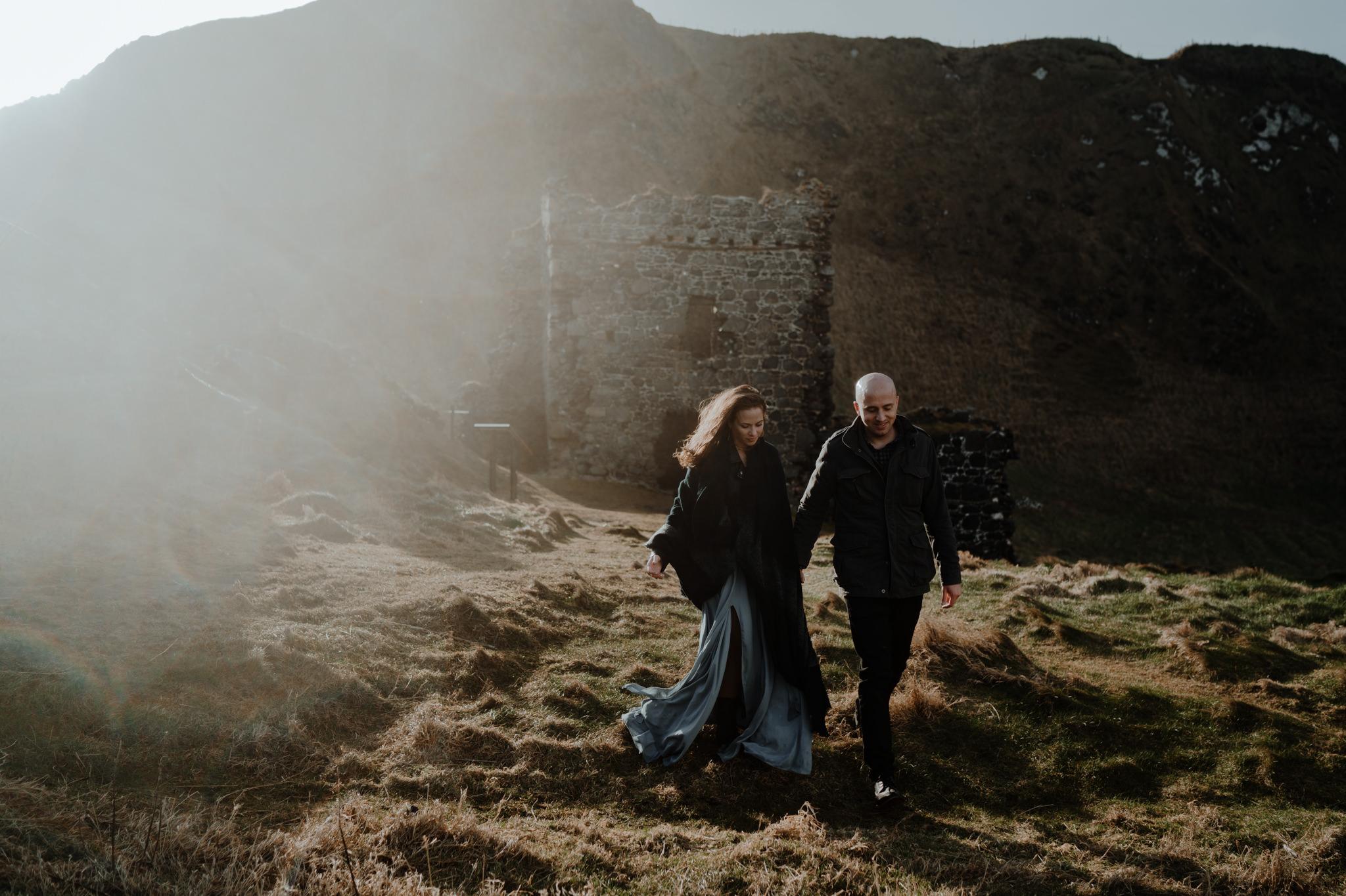 castle ruin elopement location in northern ireland