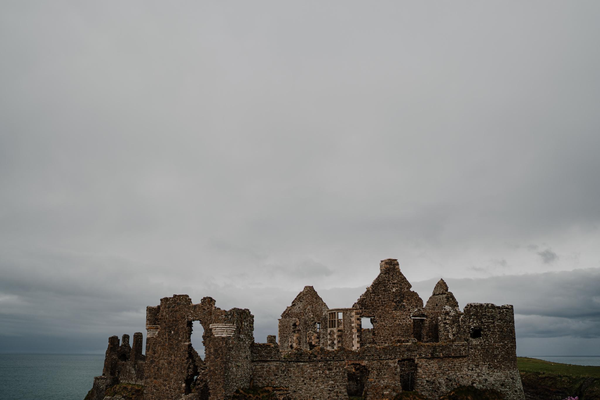 castle ruin locations in Ireland Dunluce Castle