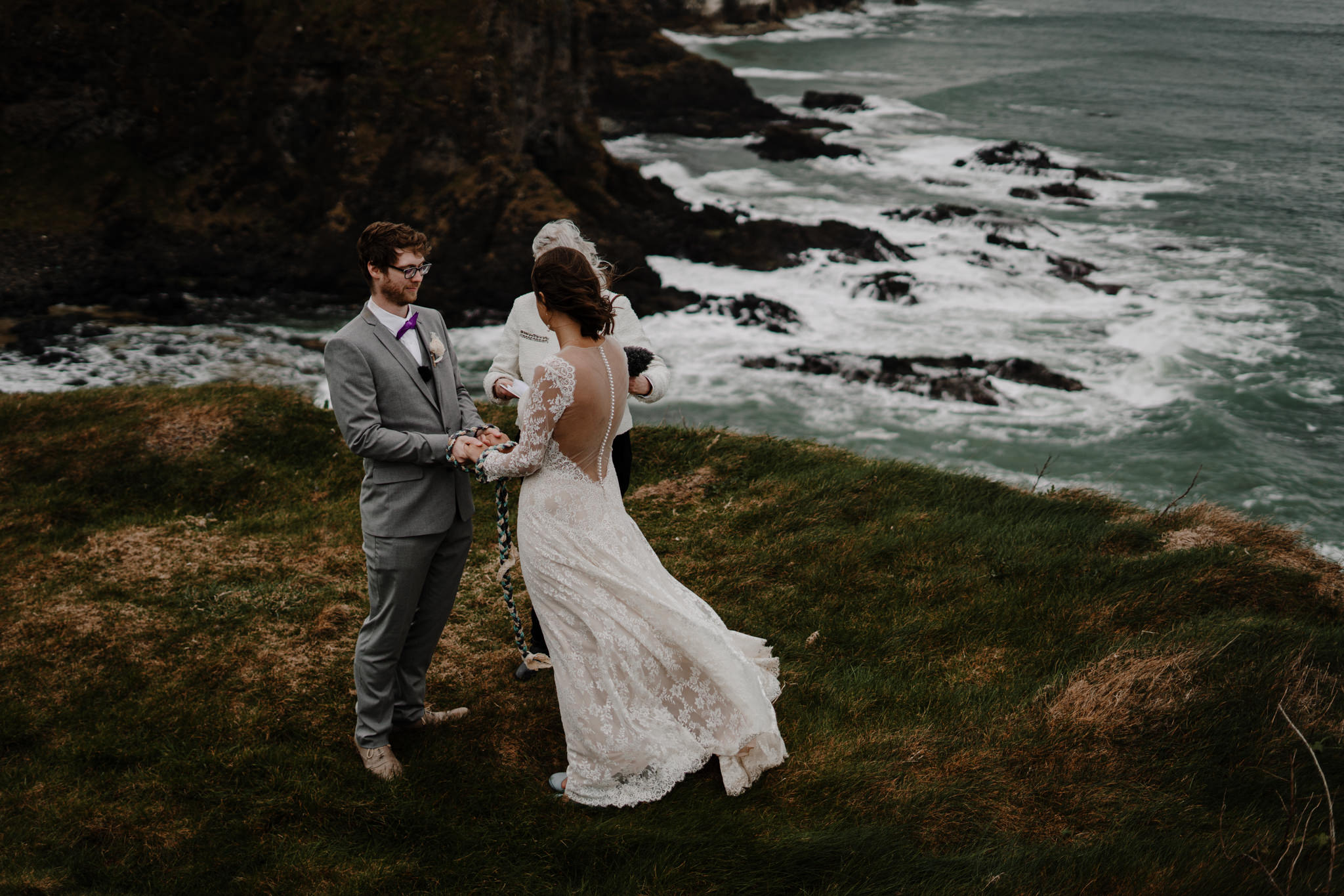 cliff edge elopement location in northern ireland Dunluce Castle