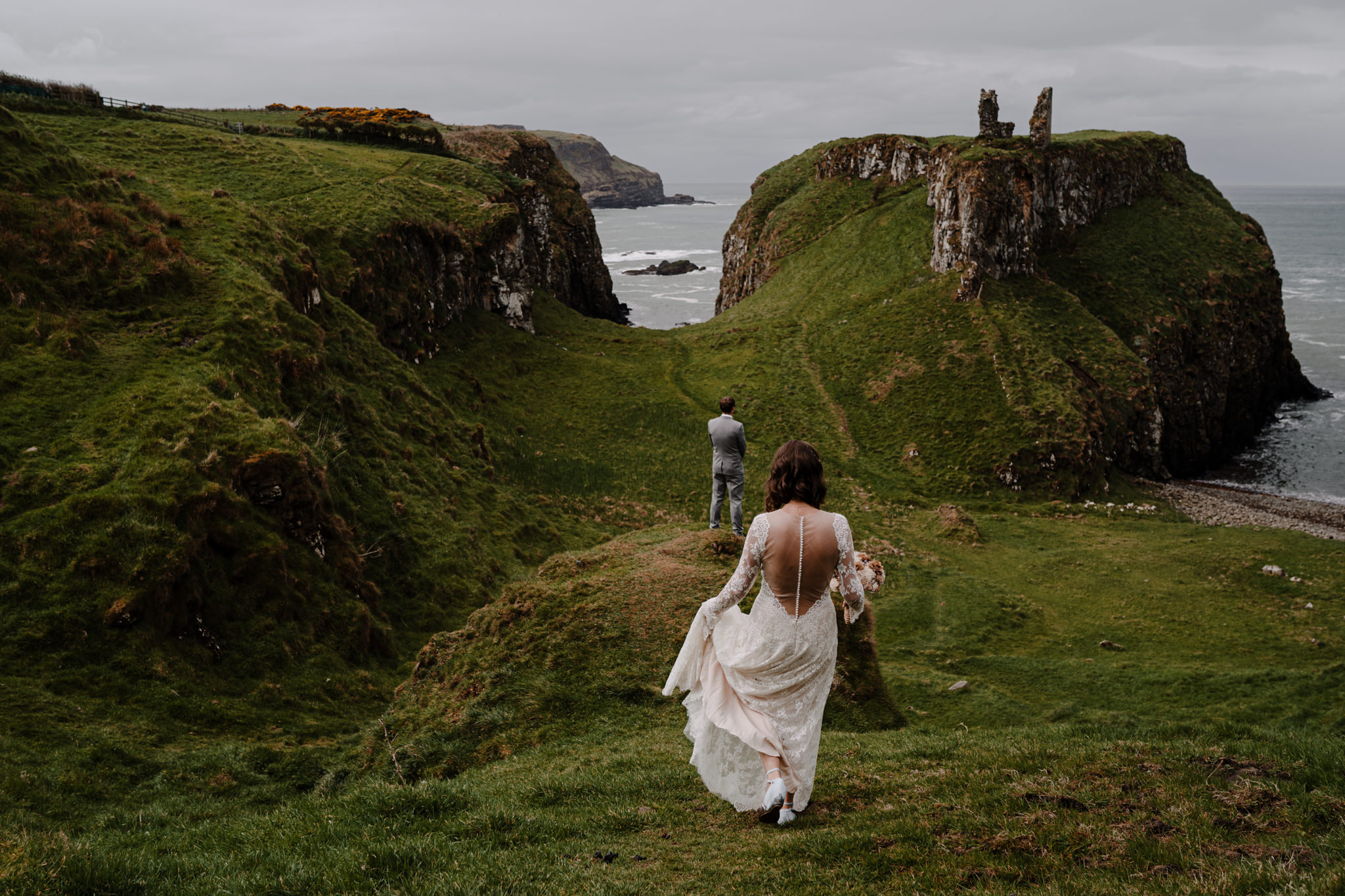 best places to elope in ireland dunseverick castle