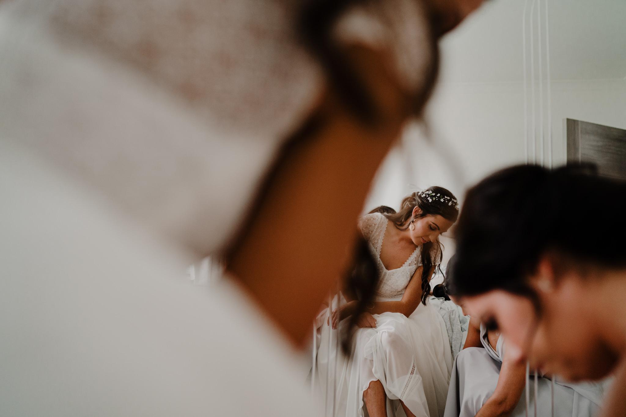 bride getting ready portstewart wedding