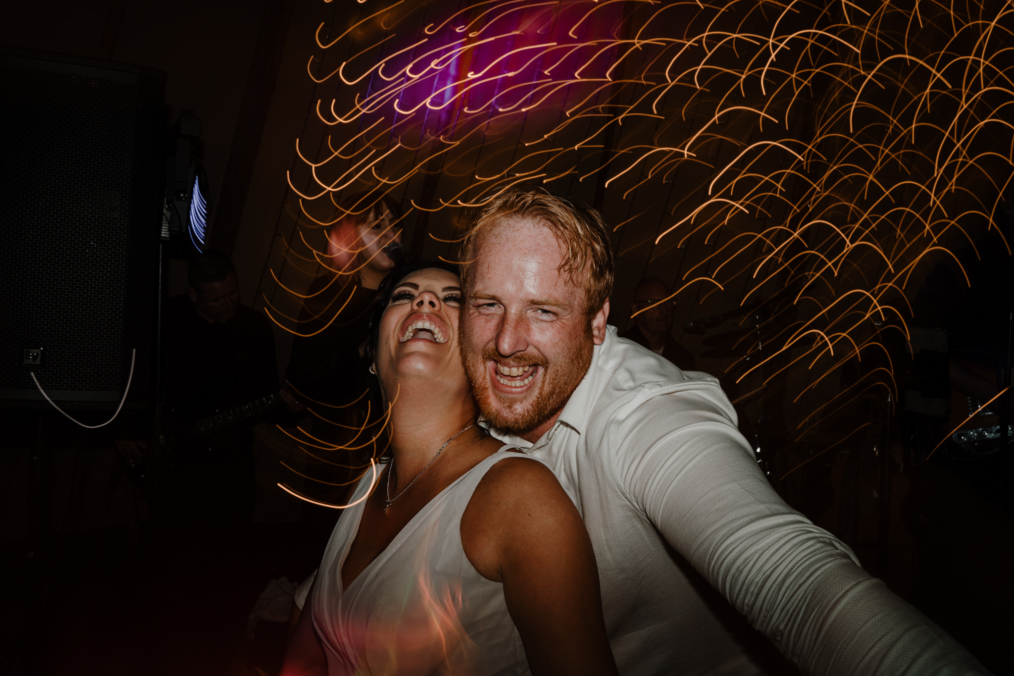 guests partying dancefloor tipi wedding