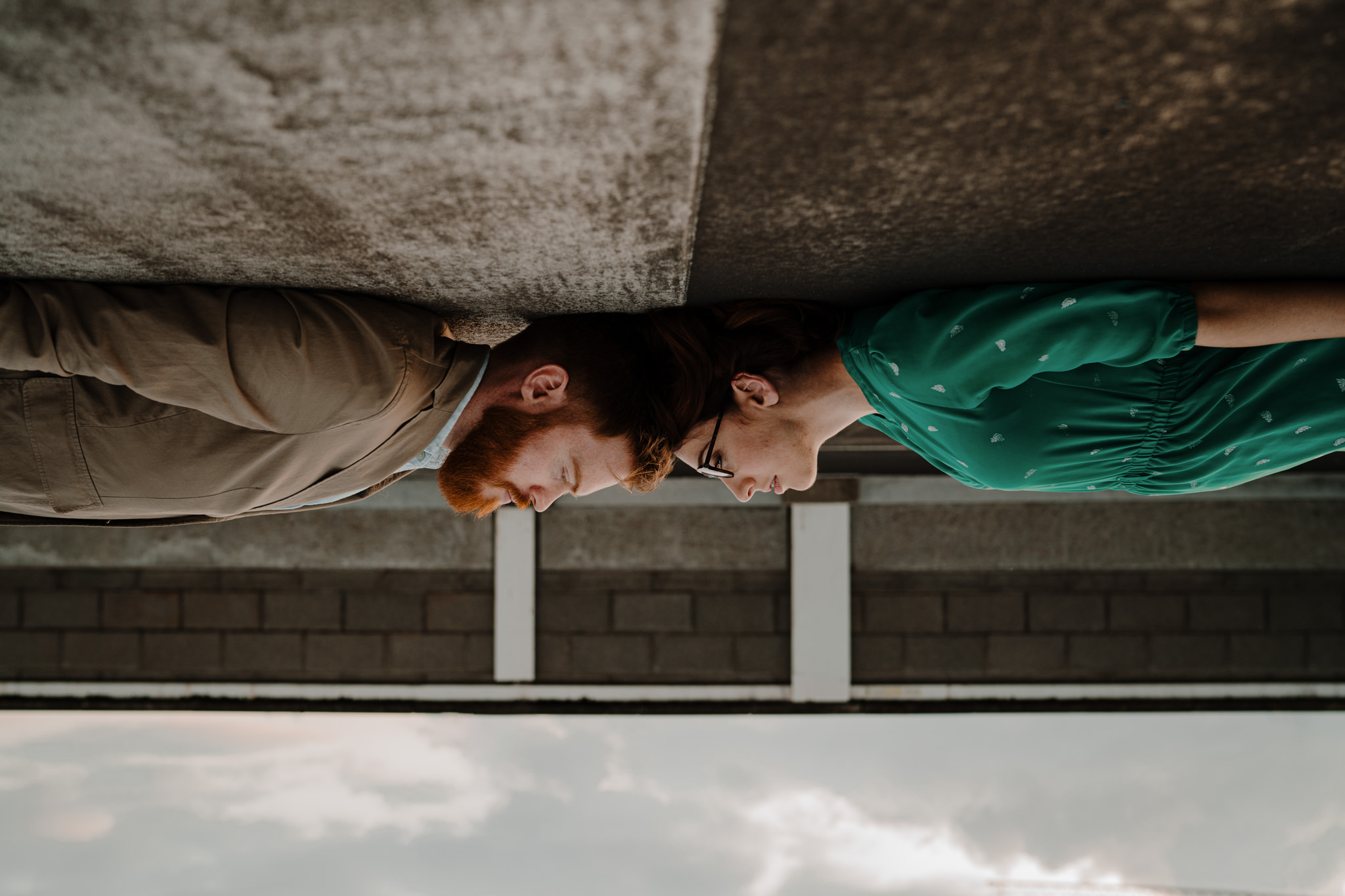 belfast-city-centre-engagement-session-rooftop-upside-down-wedding-photographers
