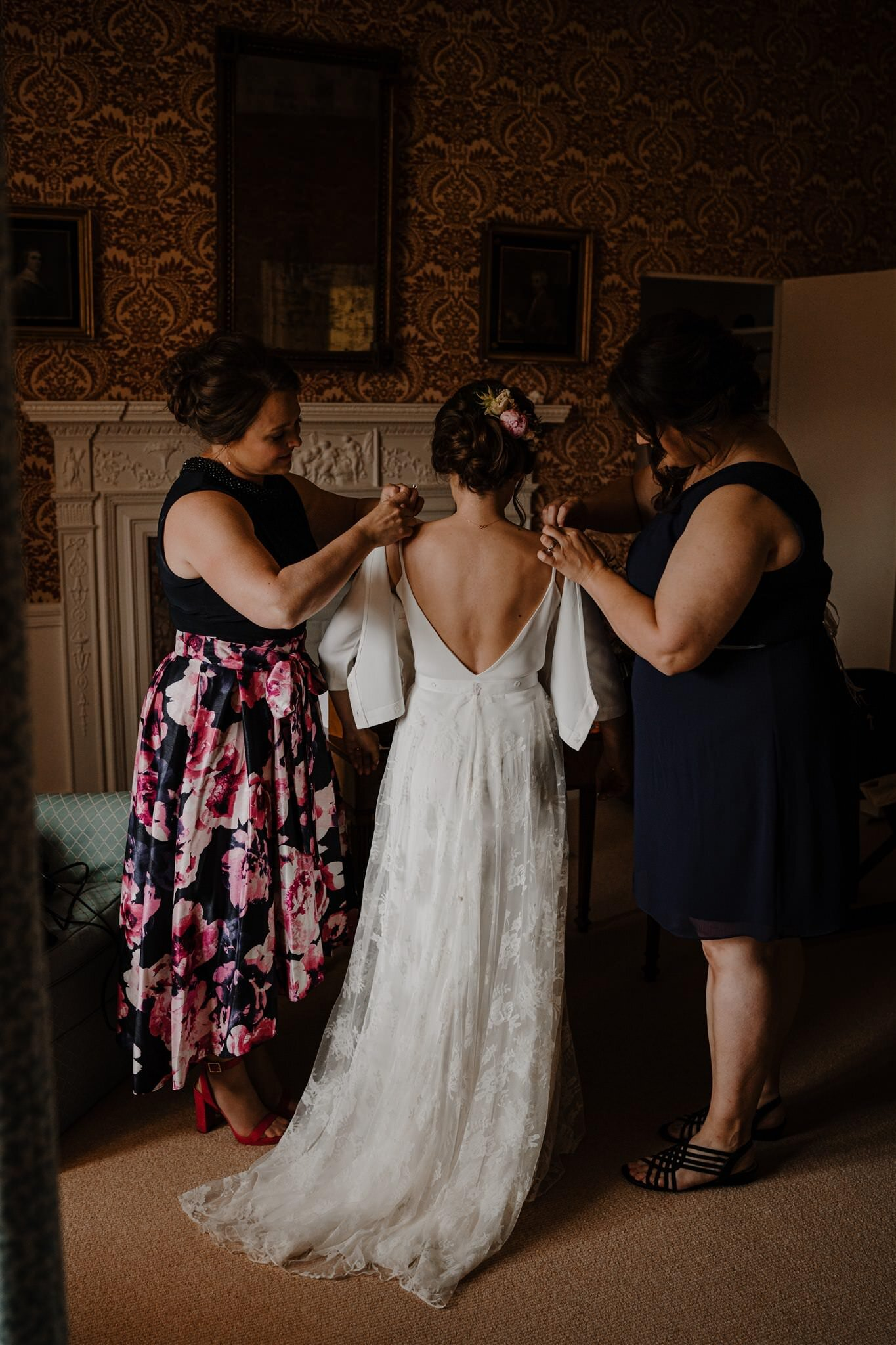 Charlie brear wedding dress bridal prep crom castle