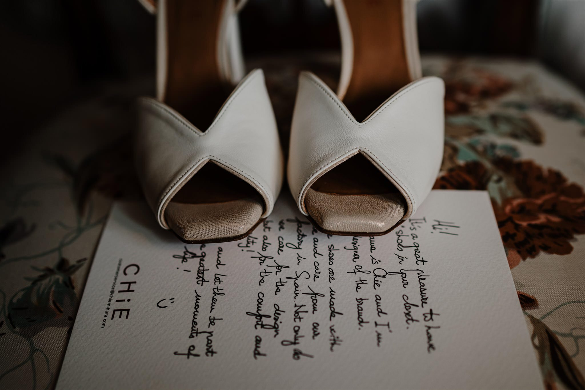 Chic wedding shoes custom made bride style