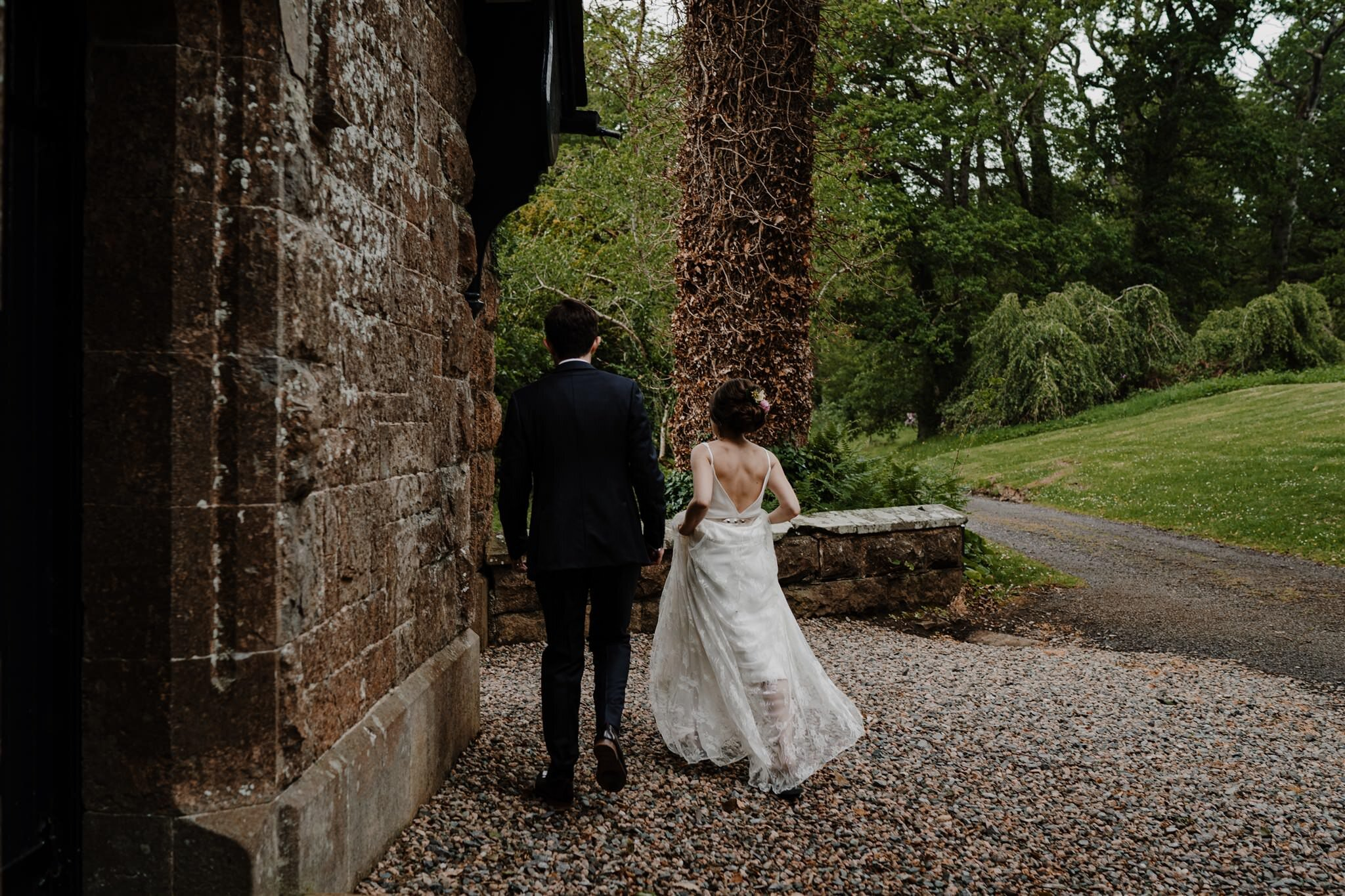 Charlie brear wedding dress crom castle intimate wedding ireland