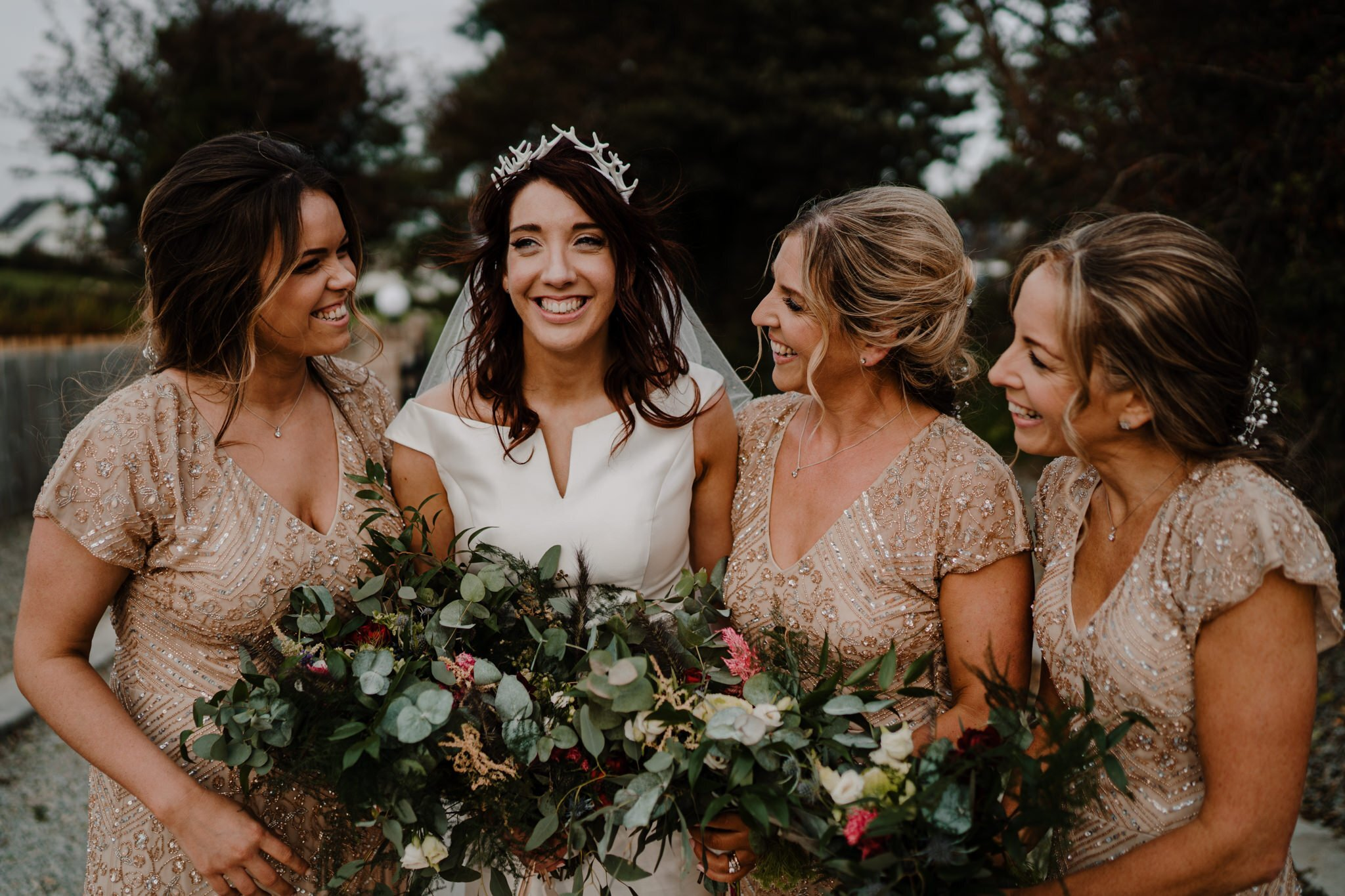 Bride-tribe-bridesmaids-Donegal-monsoon-dresses-tiger-lily-florist