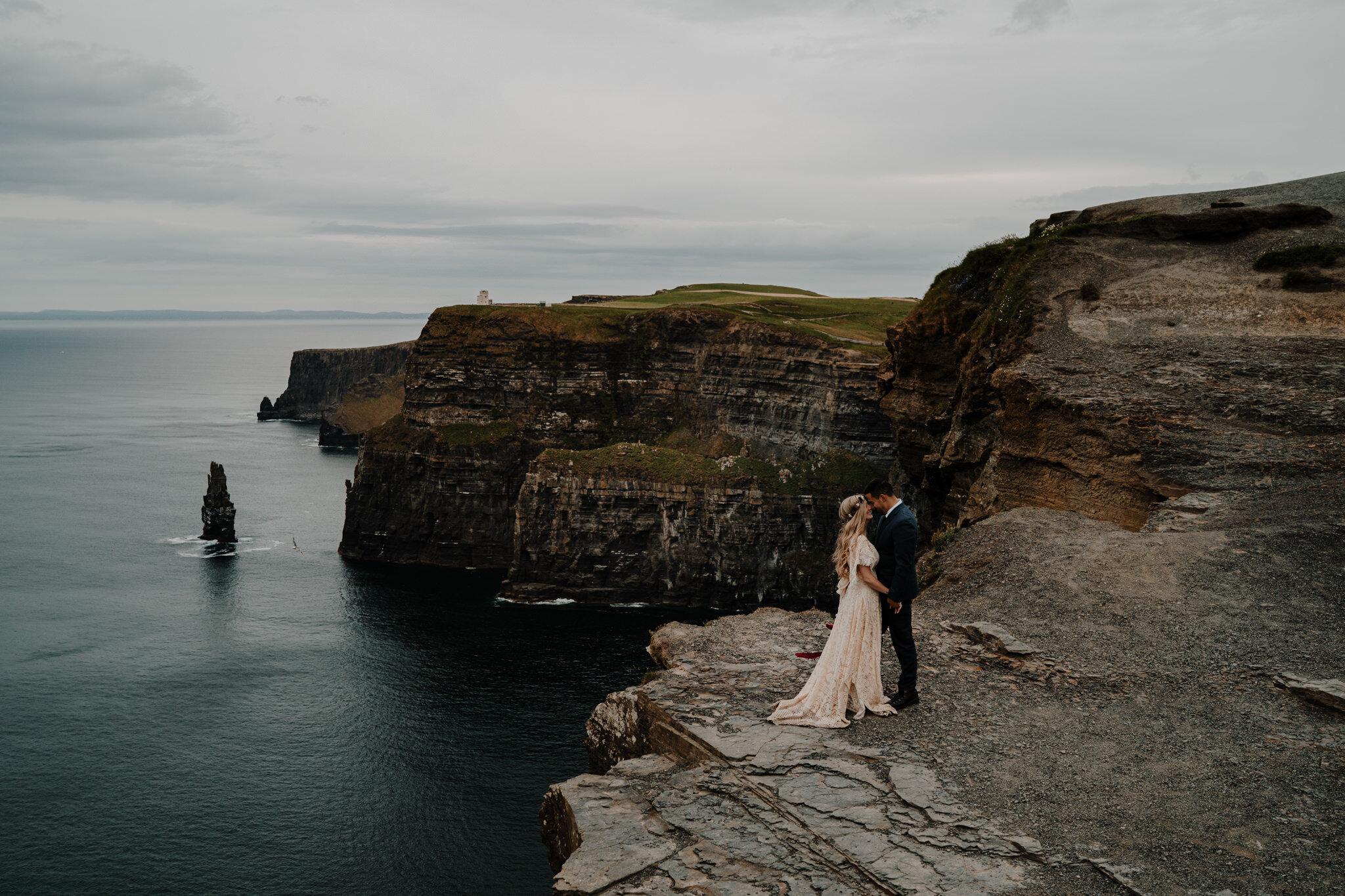 ballycastle beach couples adventure elopement wedding photographer northern ireland