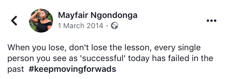 A status from 2014.