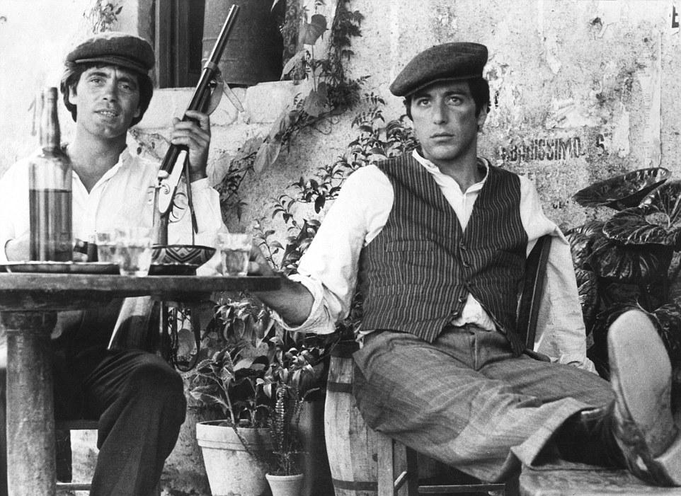 Al Pacino filmed on location at Bar Vitelli, Savoca north of Taormina in  The Godfather