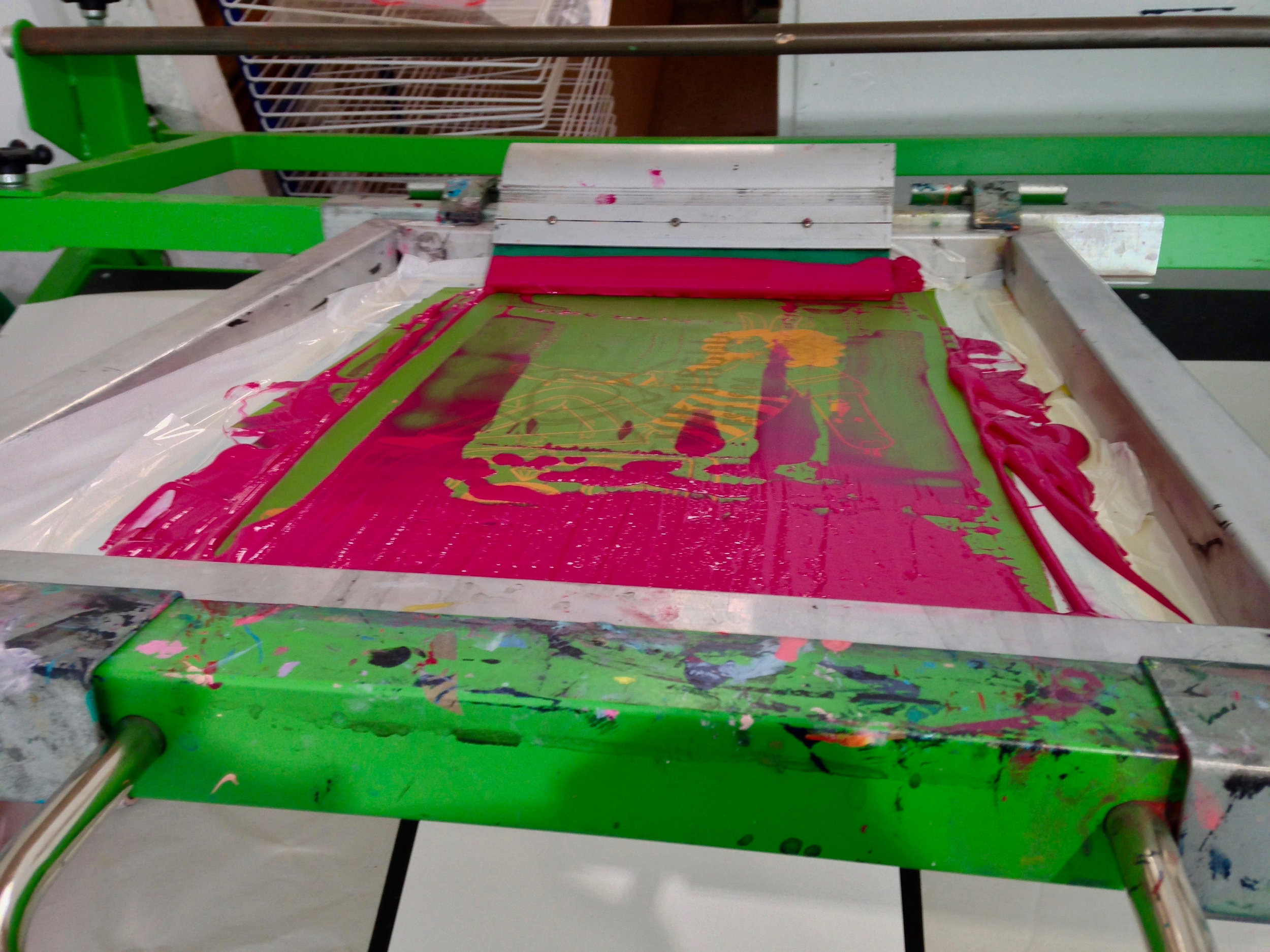 Screen print studio print