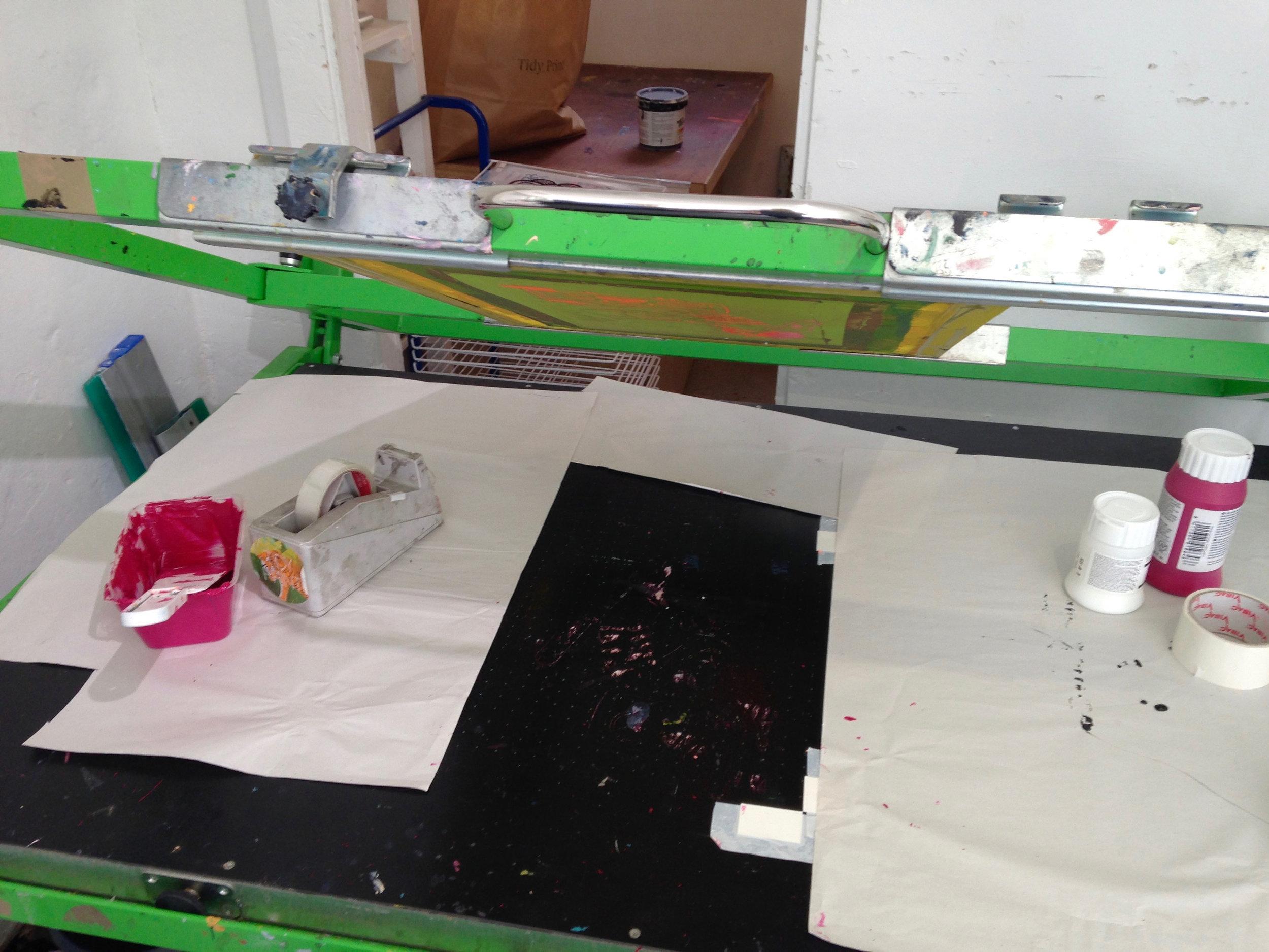 Screen print preparation