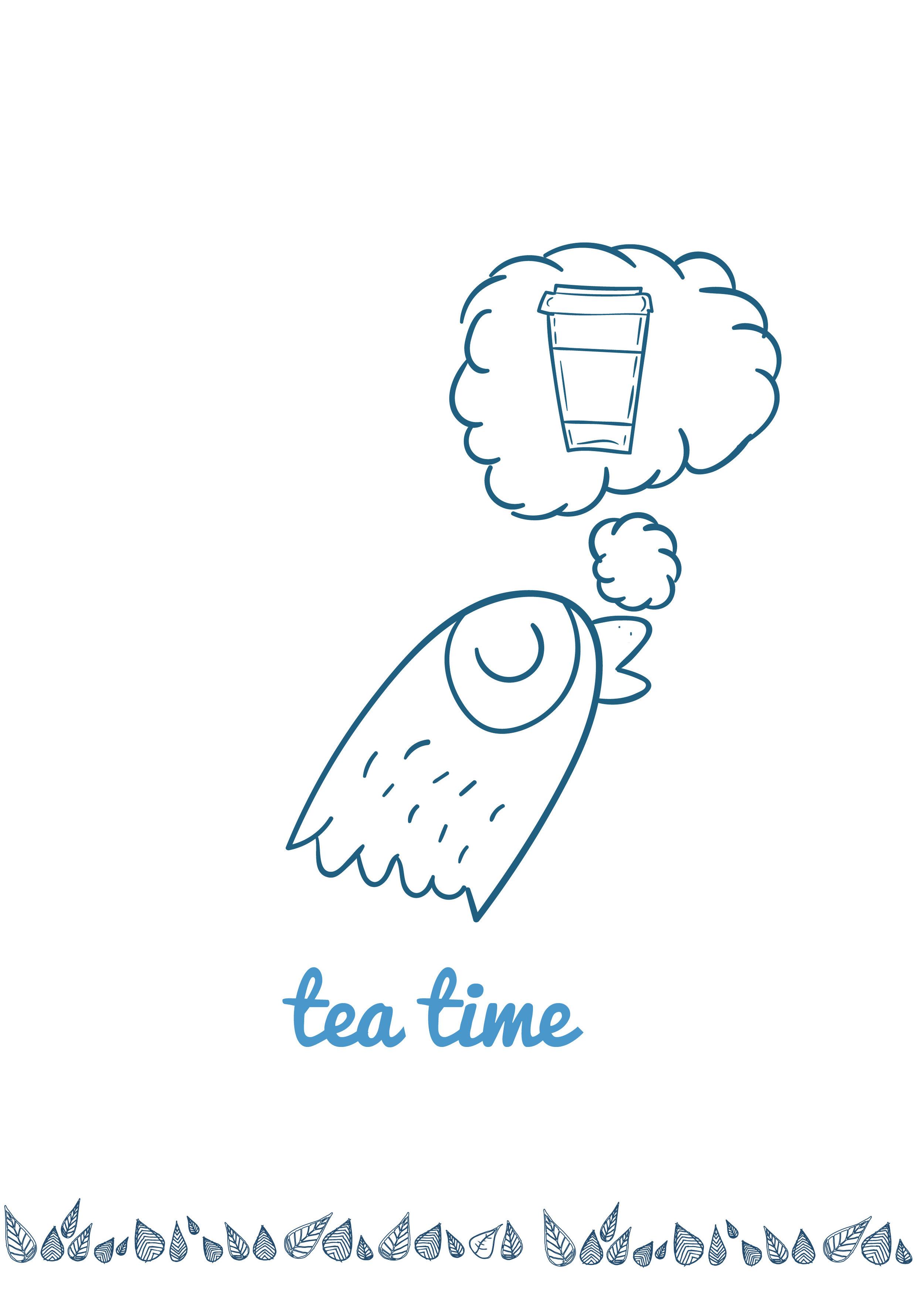 Blue bird tea menu