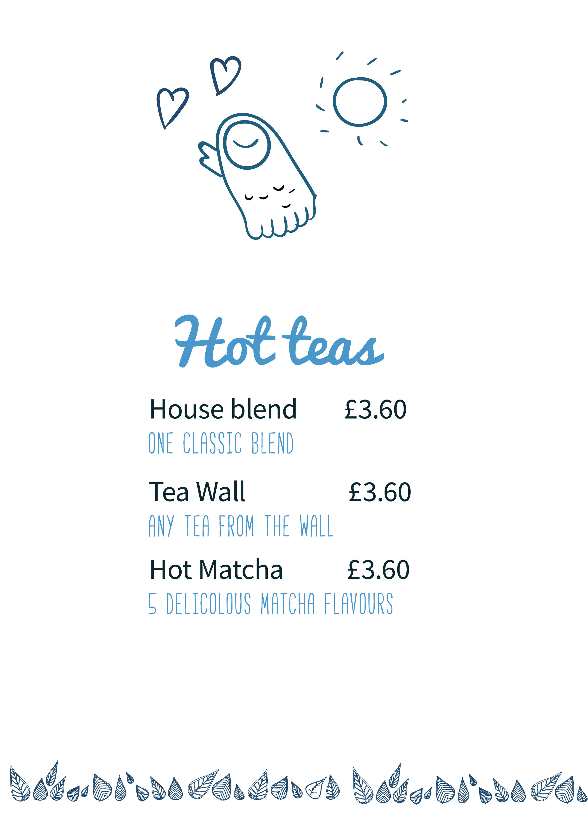 Illustration hand drawn menu