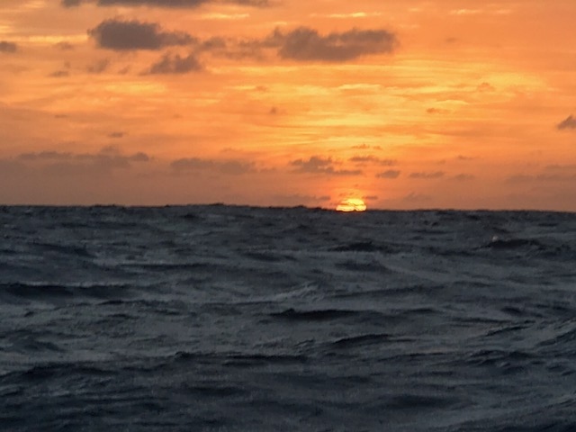 Sunset, somewhere in the Atlantic