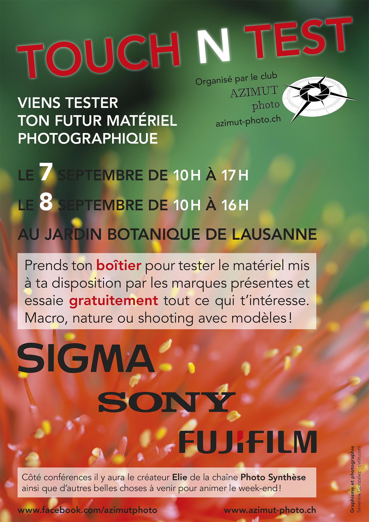 Affiche-flyer «Touch N Test»