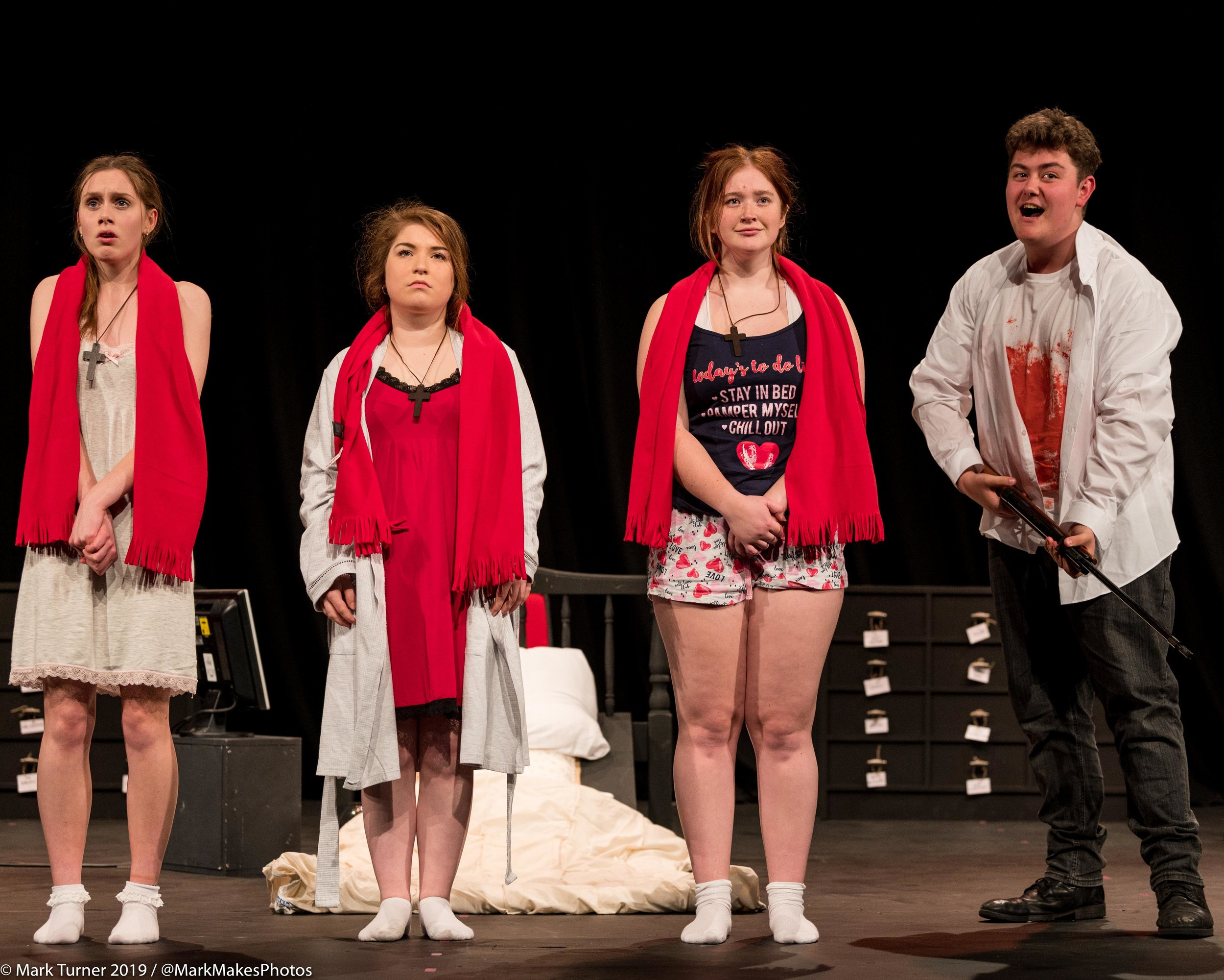 Applause Youth Theatre Company opened the 2019 Leatherhead Drama Festival with 'Five Kinds of Silence' by Shelagh Stephenson. Directed by David Walker.