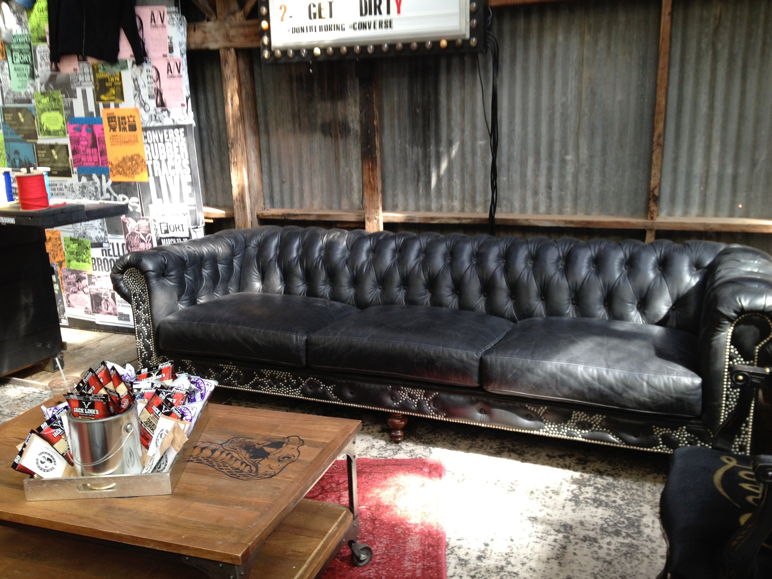 studded couch