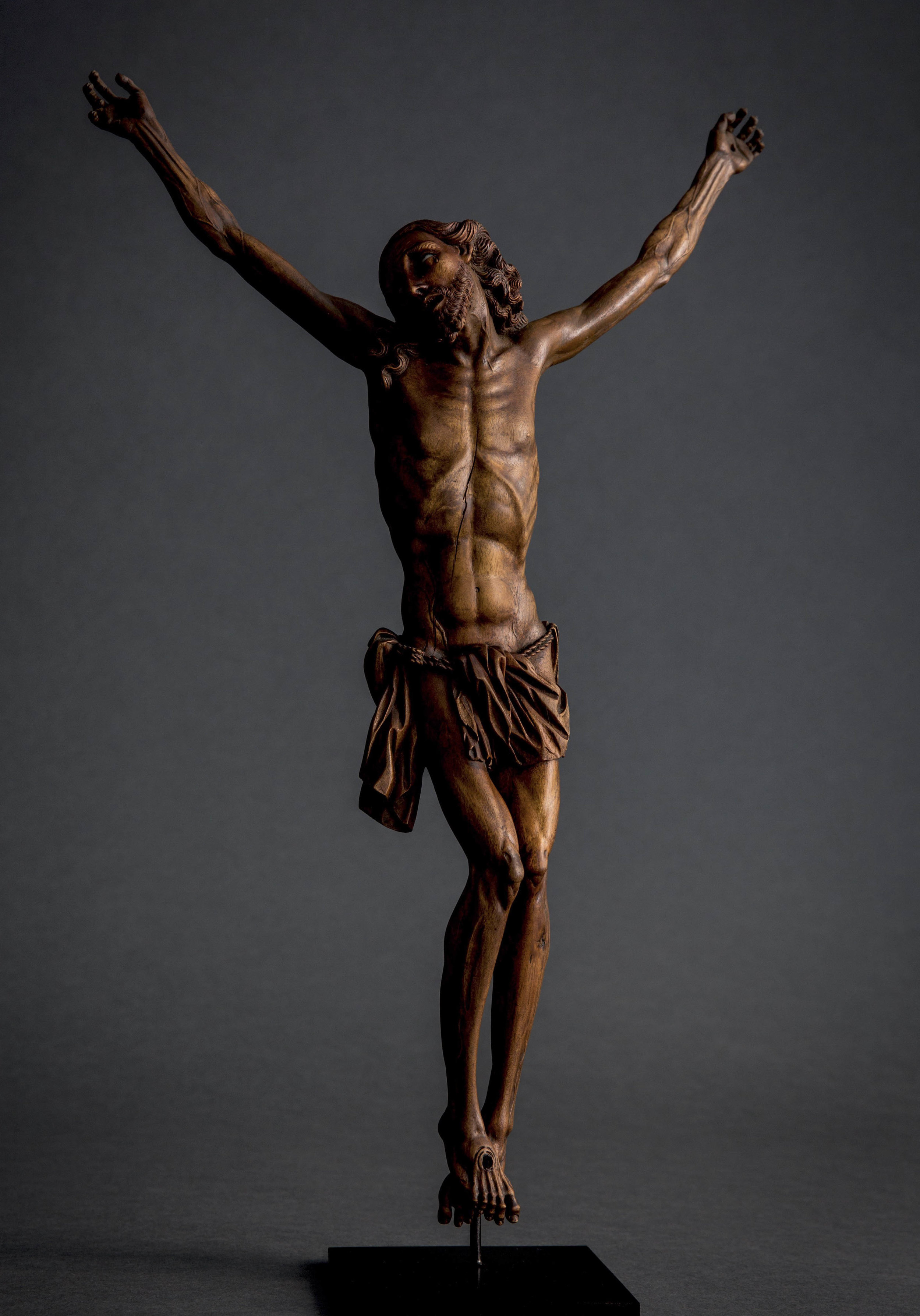 SPANISH OR HISPANO–PHILIPPINE         Crucified Christ   Second half 17th century        Fruitwood and painted glass  43 cm. high        Sold to the Birmingham Museum of Art, Alabama