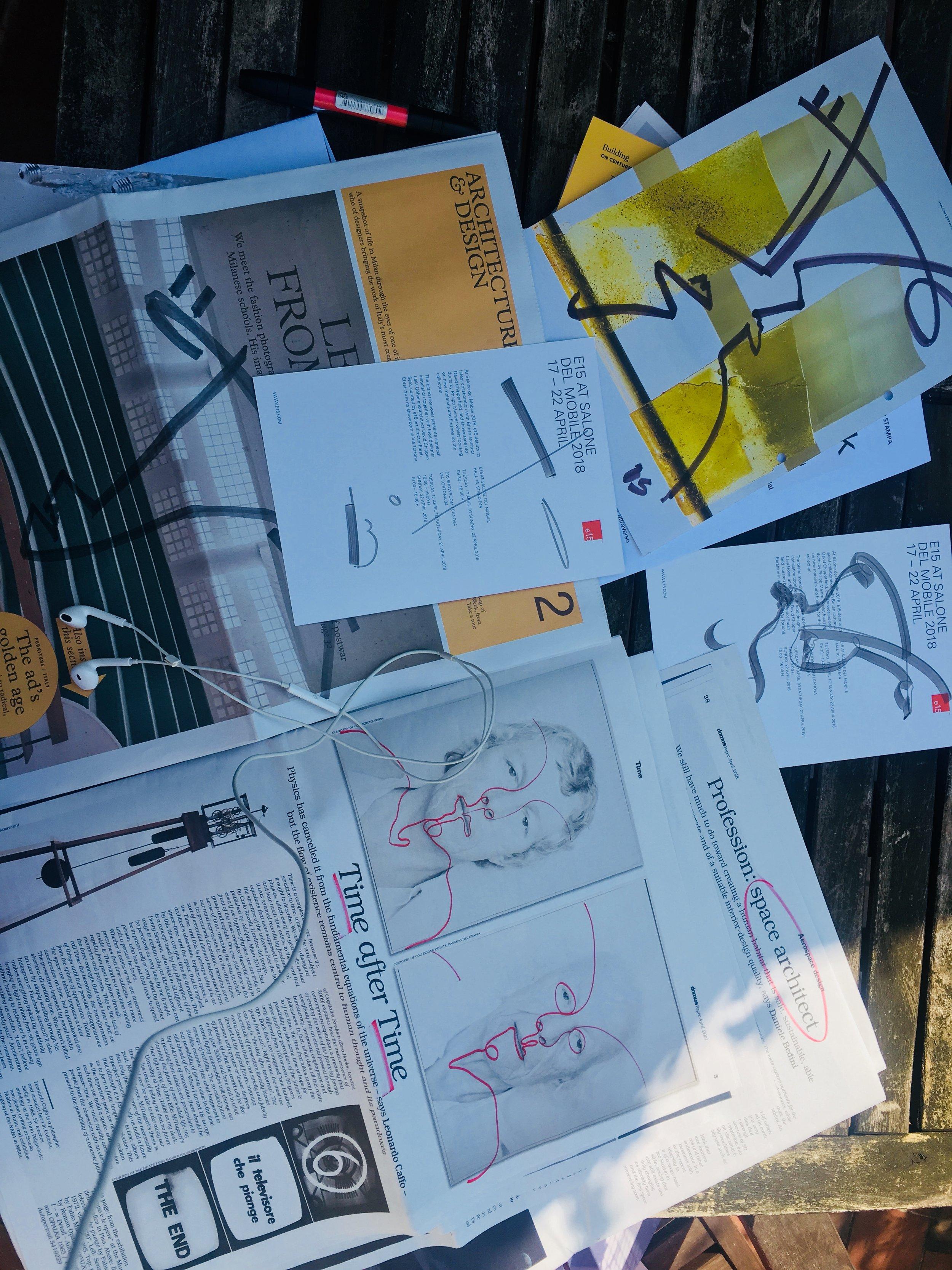 researching `space issues` Milan Design Week 2018